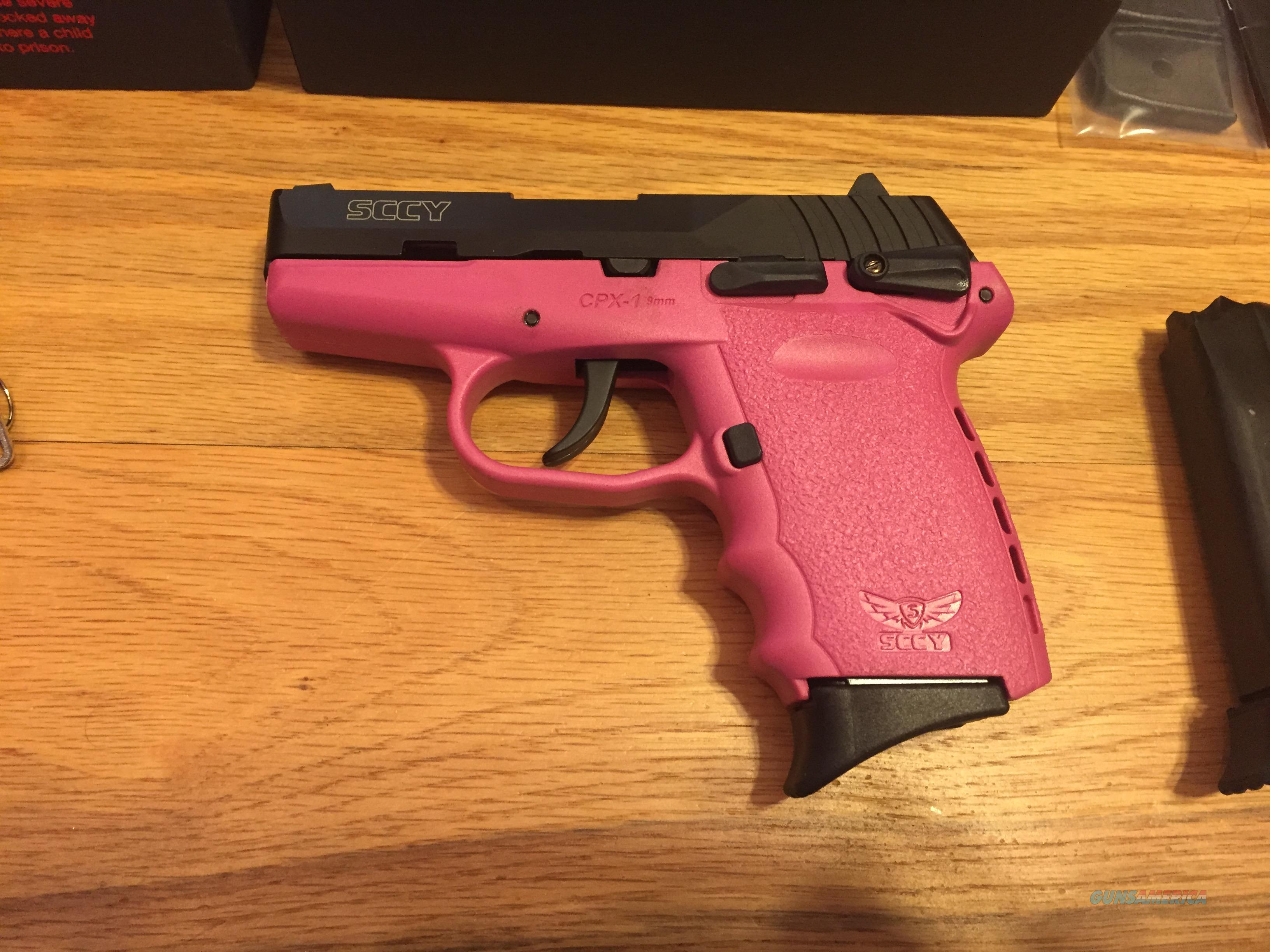 SCCY CPX1 CBPK 9mm Black and Pink w/safety New in Box (No card fees added at Deals on Guns)  Guns > Pistols > SCCY Pistols > CPX1