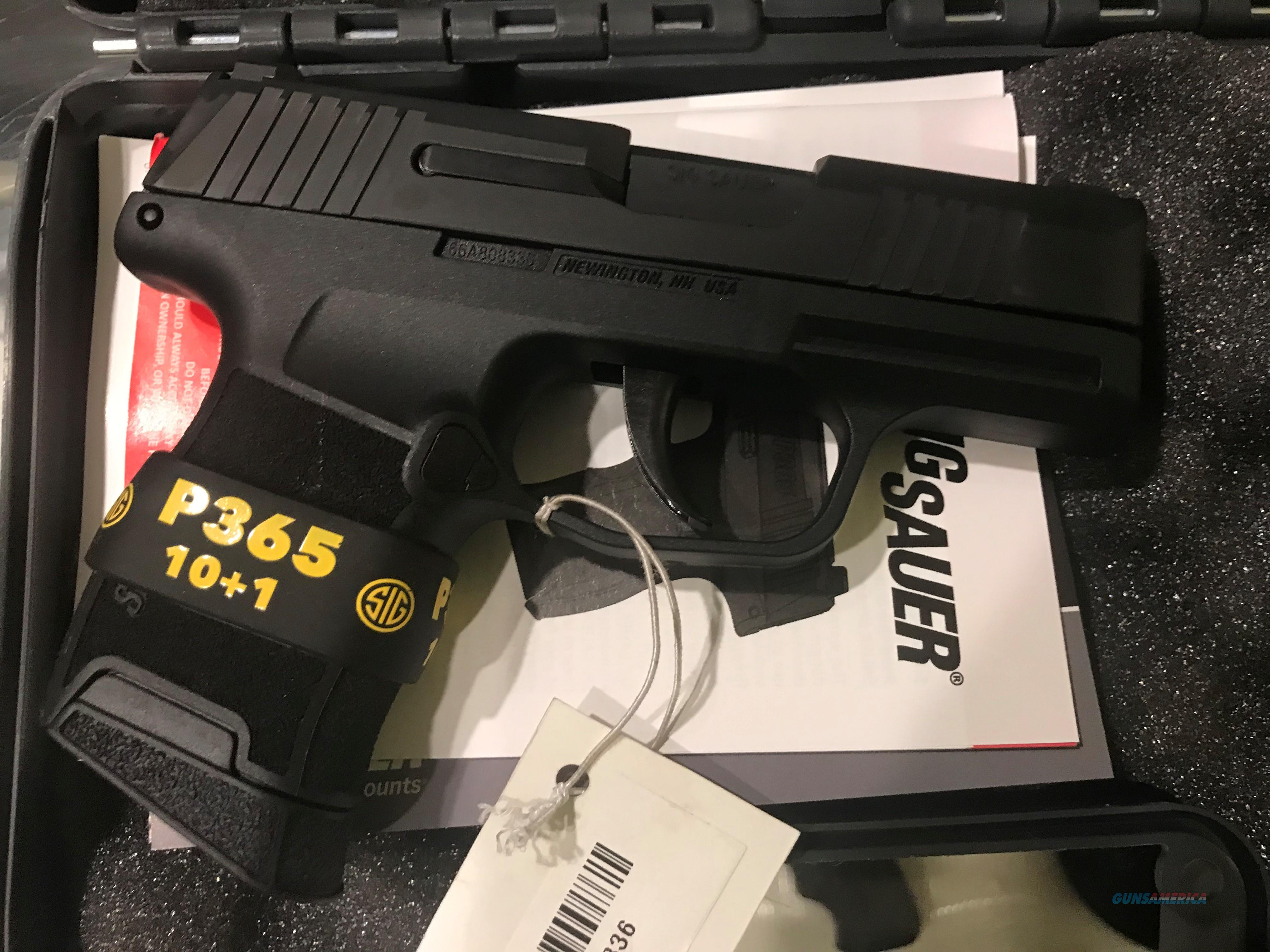 Sig Sauer P365 X-RAY3 Night Sights 10+1 round magazine 9mm Compact Sig P 365 New in case (No card fees added at Deals on Guns)  Guns > Pistols > Sig - Sauer/Sigarms Pistols > P365