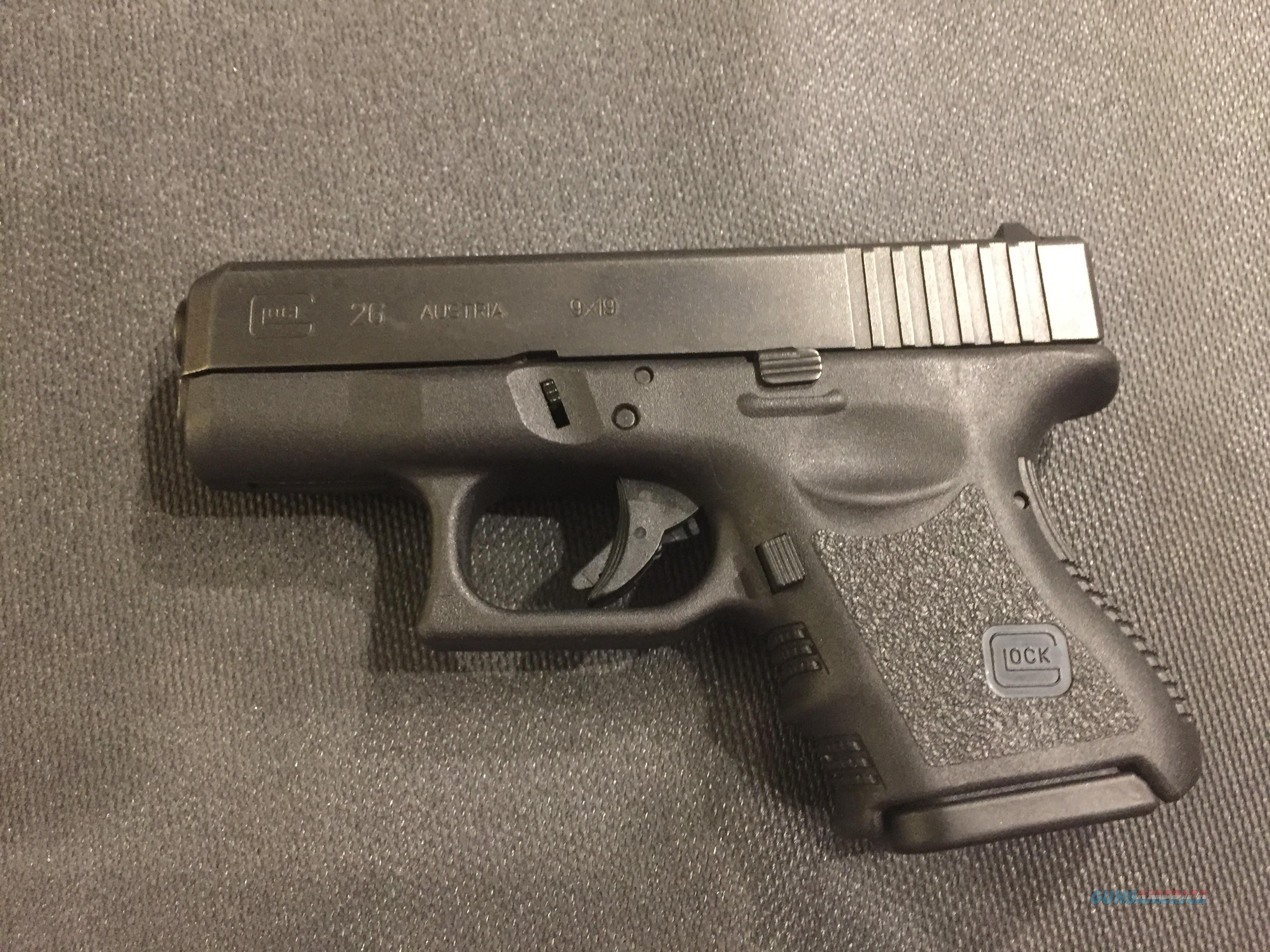 Glock 26 Gen 3 9mm sub compact in like new condition G26 in original hard case (no card fees added)  Guns > Pistols > Glock Pistols > 26/27