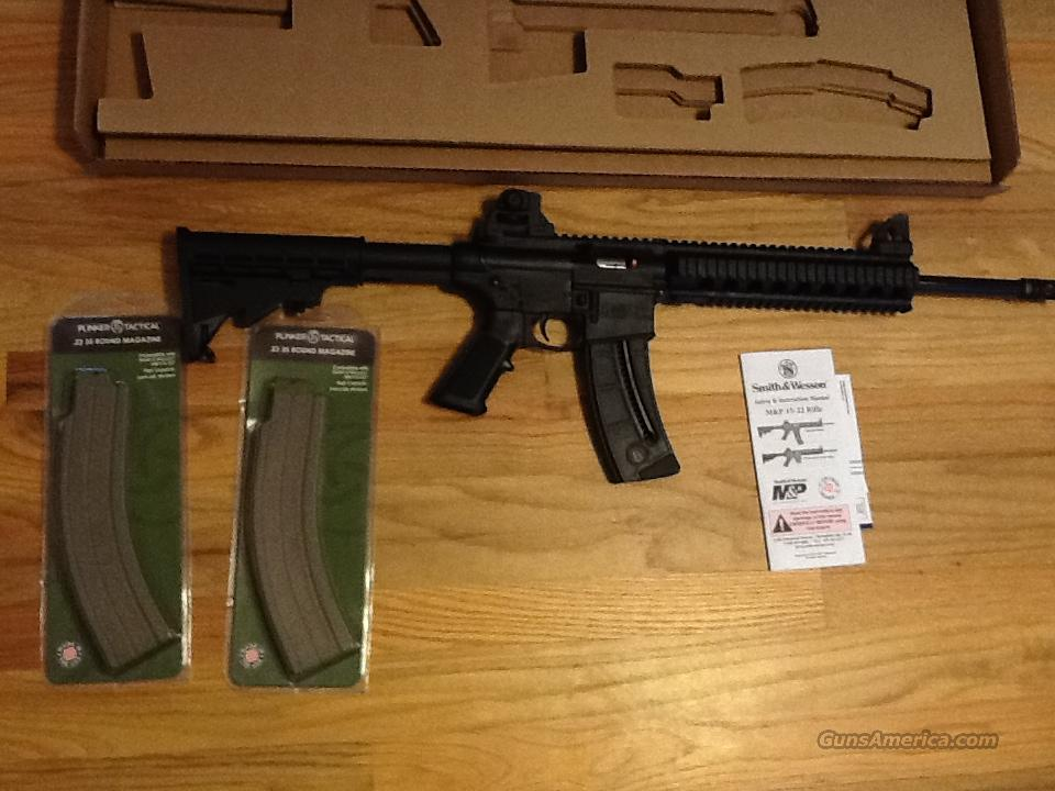AR15 S&W M&P 15 -22 w/1 hi-cap 25 rnd magazine .22LR AR-15 M&P 22 (Closeout Sale/ Last One) New in box  Guns > Rifles > Smith & Wesson Rifles > M&P