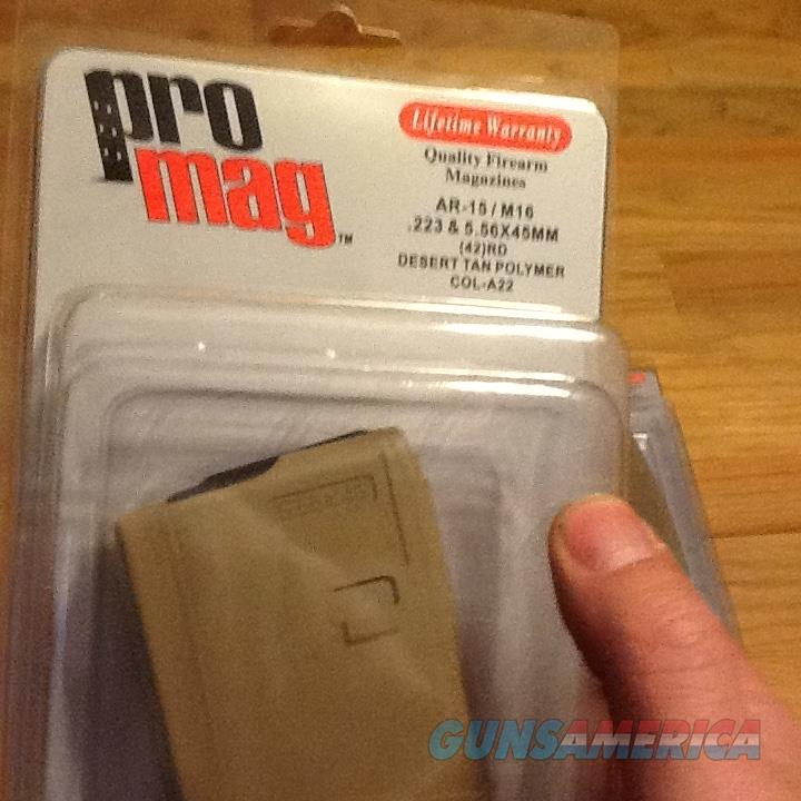 AR15 (3) Promag 42 round hi-cap Magazines Desert Tan in 5.56 NATO, .223 and .300 Whisper/Blackout AR-15 mags New  Non-Guns > Magazines & Clips > Rifle Magazines > AR-15 Type
