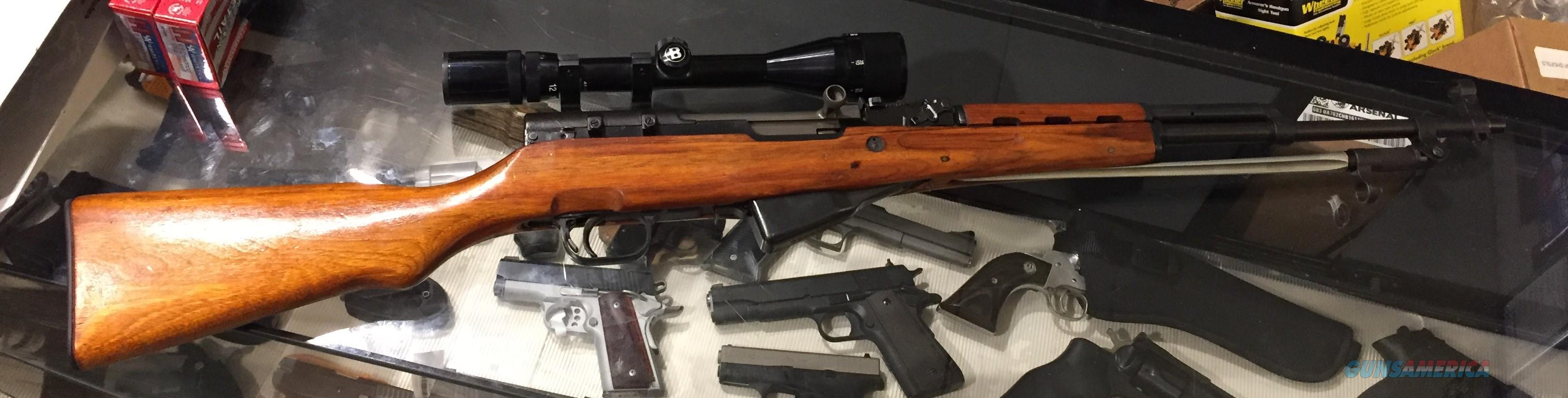 SKS in 7.62x39mm Norinco with bayonet and 4-12 scope in very good condition. No card fees added.  Guns > Rifles > SKS Rifles