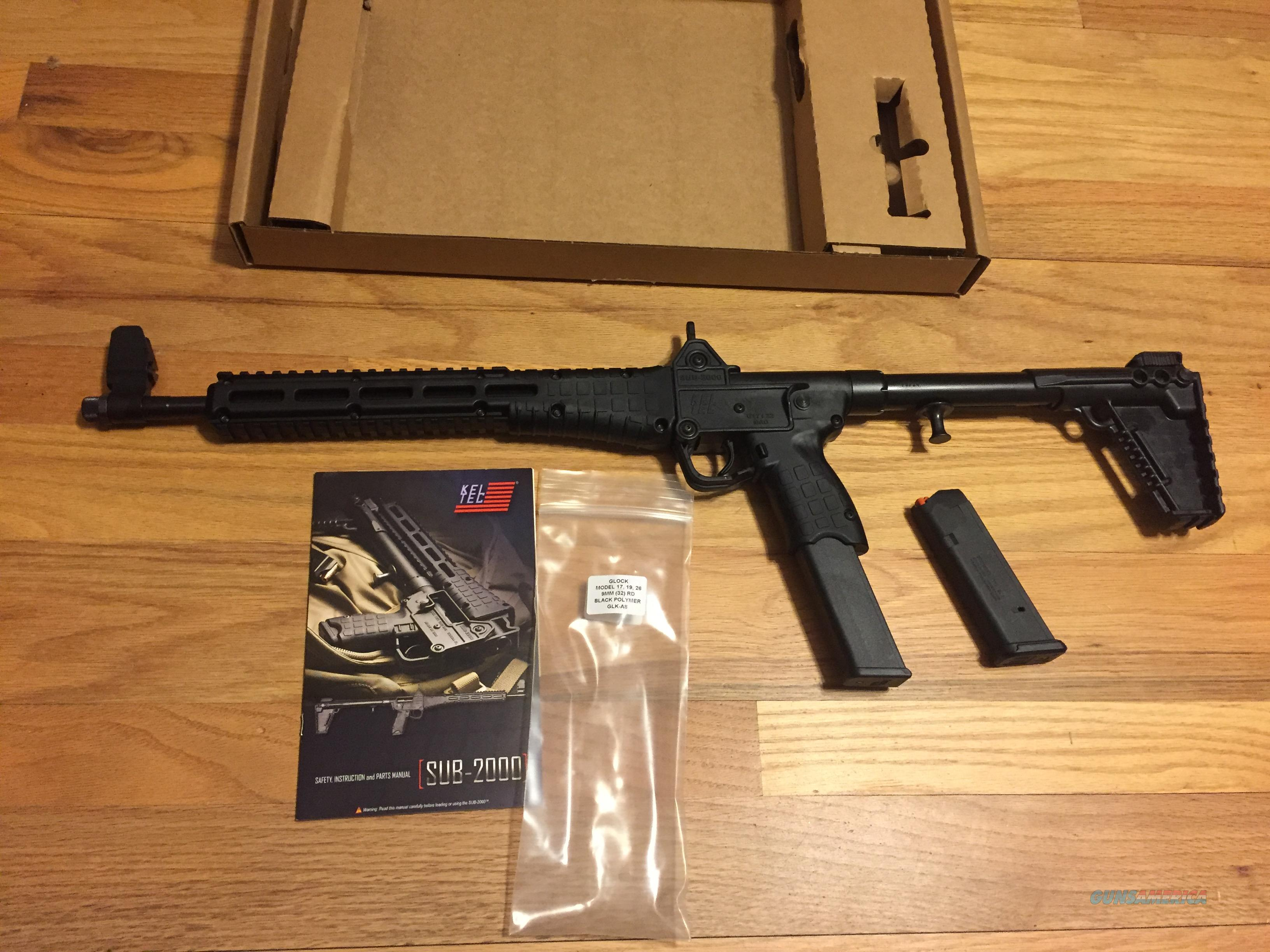 Kel-Tec Sub 2k 9mm Gen 2 uses Glock 17 magazines Sub 2000 G17  New in box (no card fees added at Deals on Guns)  Guns > Rifles > Kel-Tec Rifles