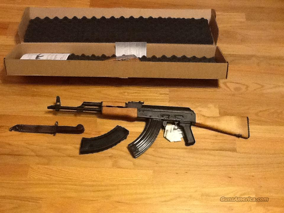 AK47 w/Bayonet Century Arms/ Romanian WASR 10 in 7.62x39mm AK-47 New in box  Guns > Rifles > Century International Arms - Rifles > Rifles