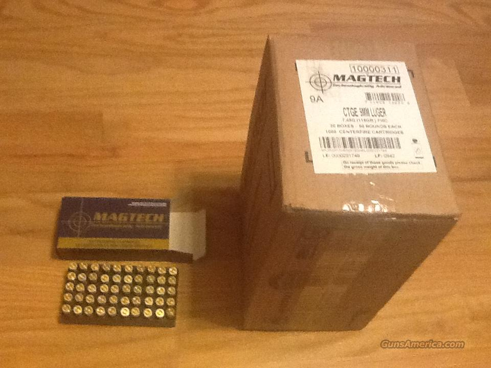 9mm 115grain FMJ by Magtech 1000 rounds (20) 50 round boxes  Non-Guns > Ammunition