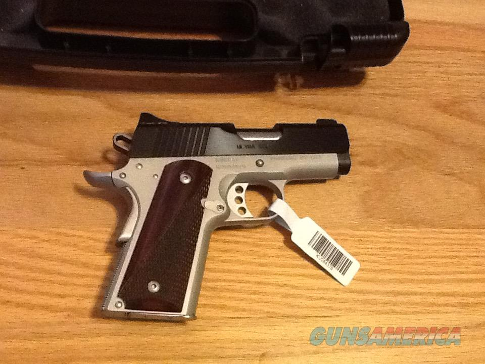 1911 Kimber 45 Ultra Carry II two tone in .45acp New in case  Guns > Pistols > Kimber of America Pistols