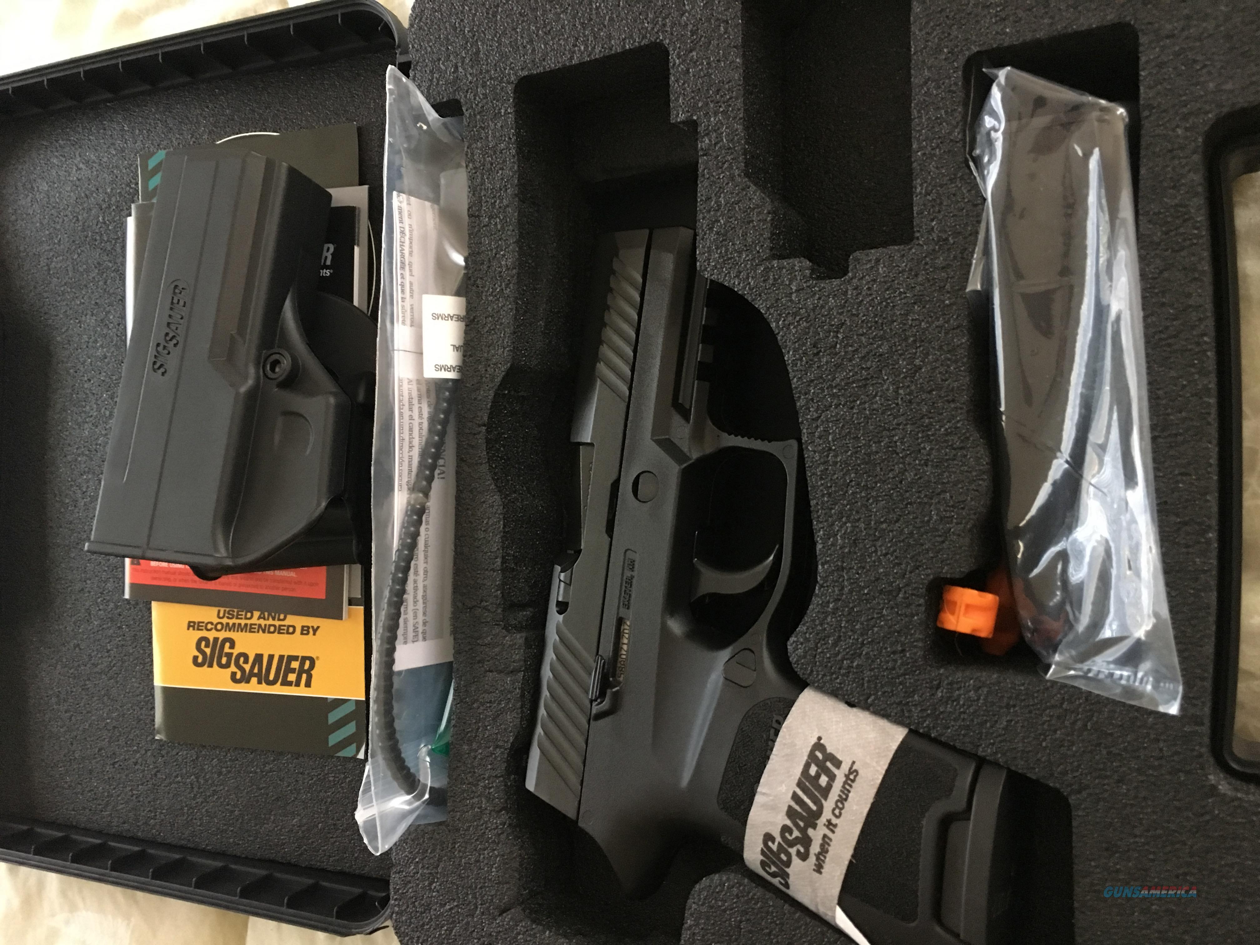 Sig P320. Night Sights, holster, and rail. New in Box  Guns > Pistols > Sig - Sauer/Sigarms Pistols > P320