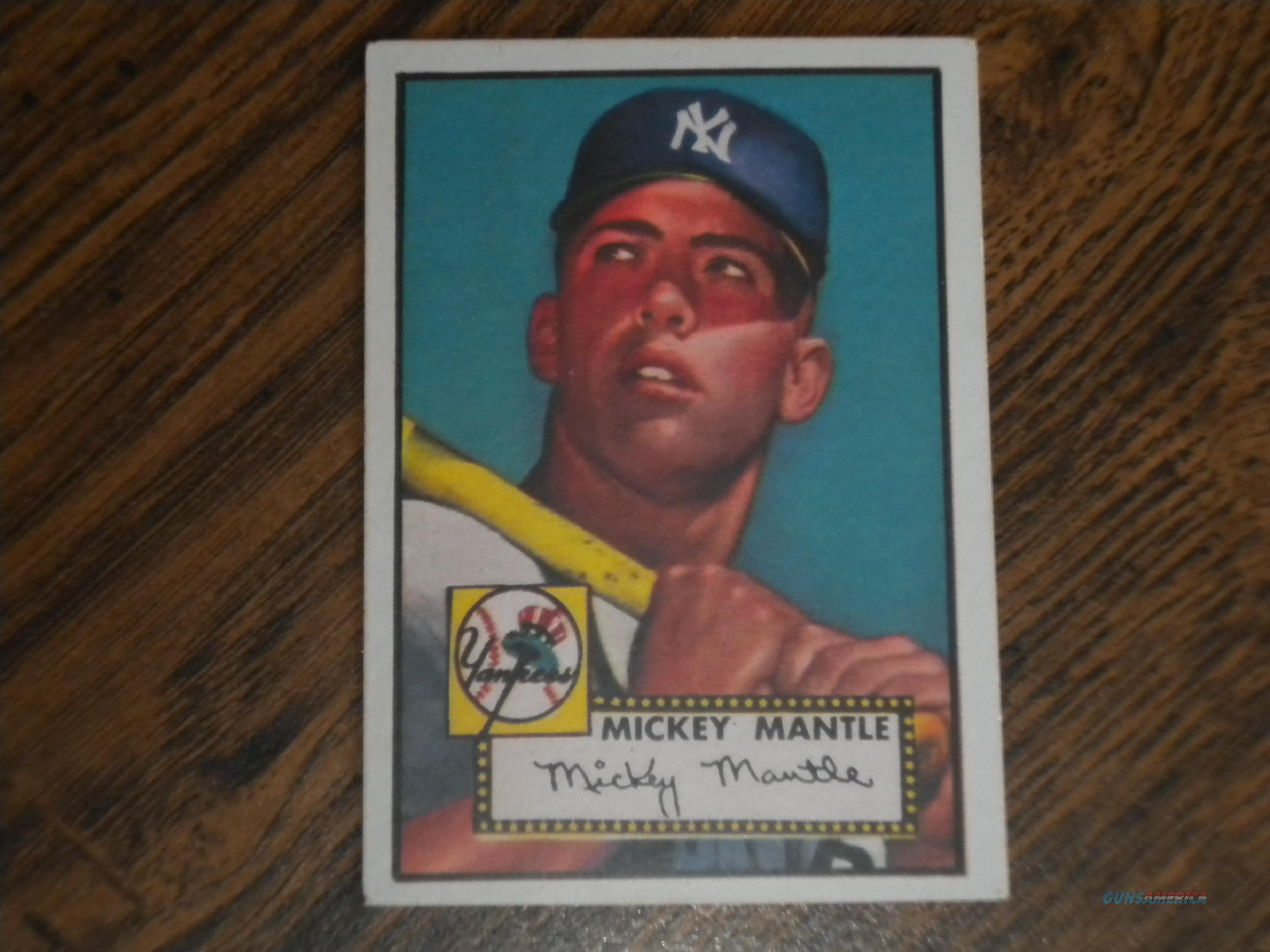 Mickey Mantle baseball card, reprint, 1952, card #311 nice card!!  Non-Guns > Hobbies and Collectibles > Action Figures > Other/Misc
