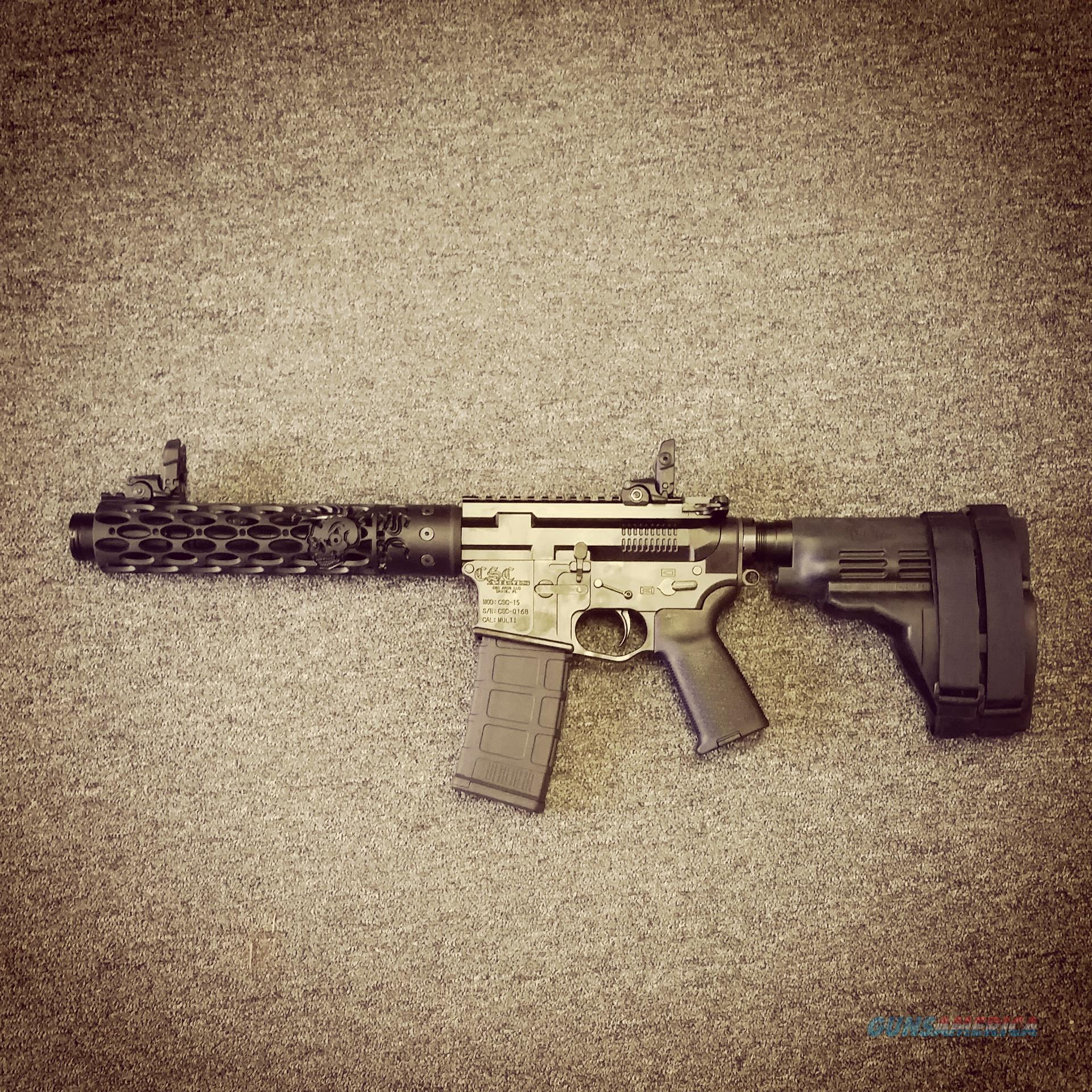 "CSC ARMS ""War Fighter Elite"" 300 Blackout 10.5"" AR Pistol.  Guns > Rifles > AR-15 Rifles - Small Manufacturers > Complete Rifle"