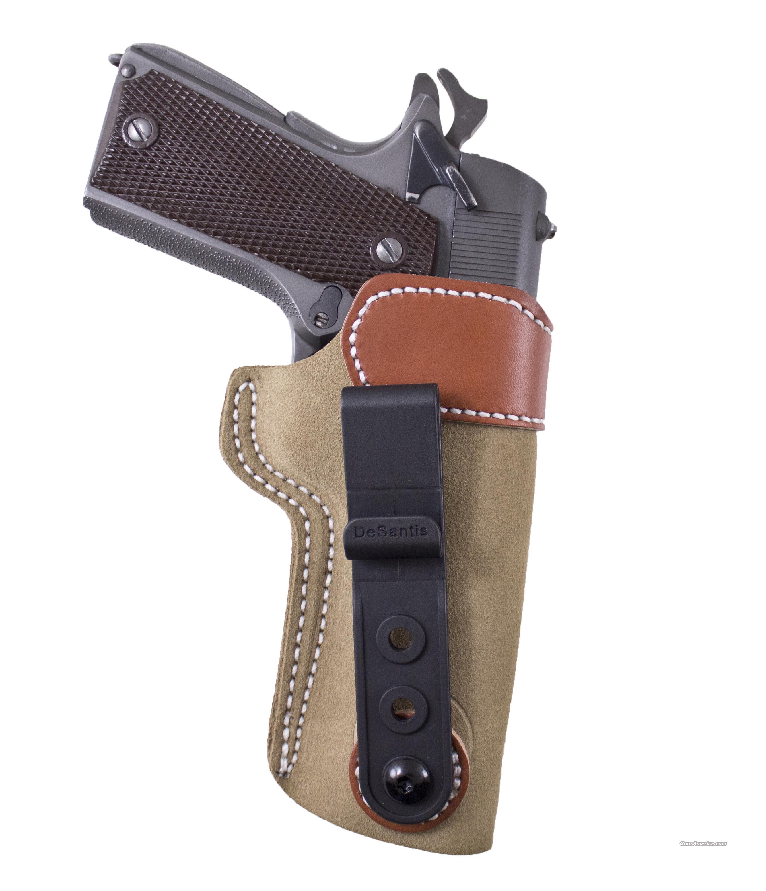 DeSantis Sof-Tuck IWB Inside Pants / Waistband Holster Browning P35					 Zoom InZoom Out Have one to sell?Sell it yourself 	 	 DeSantis Sof-Tuck IWB Inside Pants / Waistband Holster Colt Commander,  Government  Non-Guns > Holsters and Gunleather > Concealed Carry