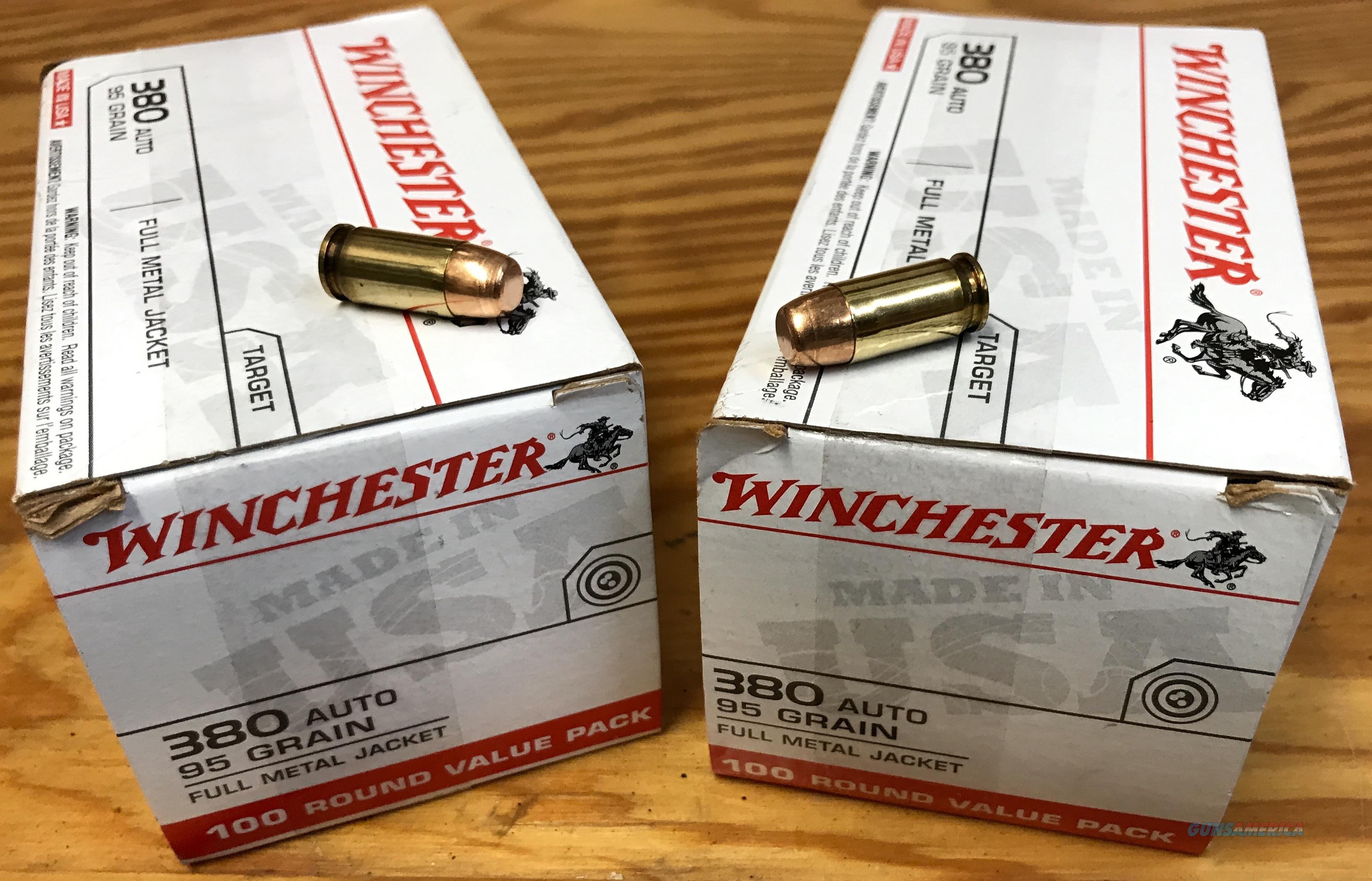 200 rounds of Winchester 380 ACP FMJ   Non-Guns > Ammunition