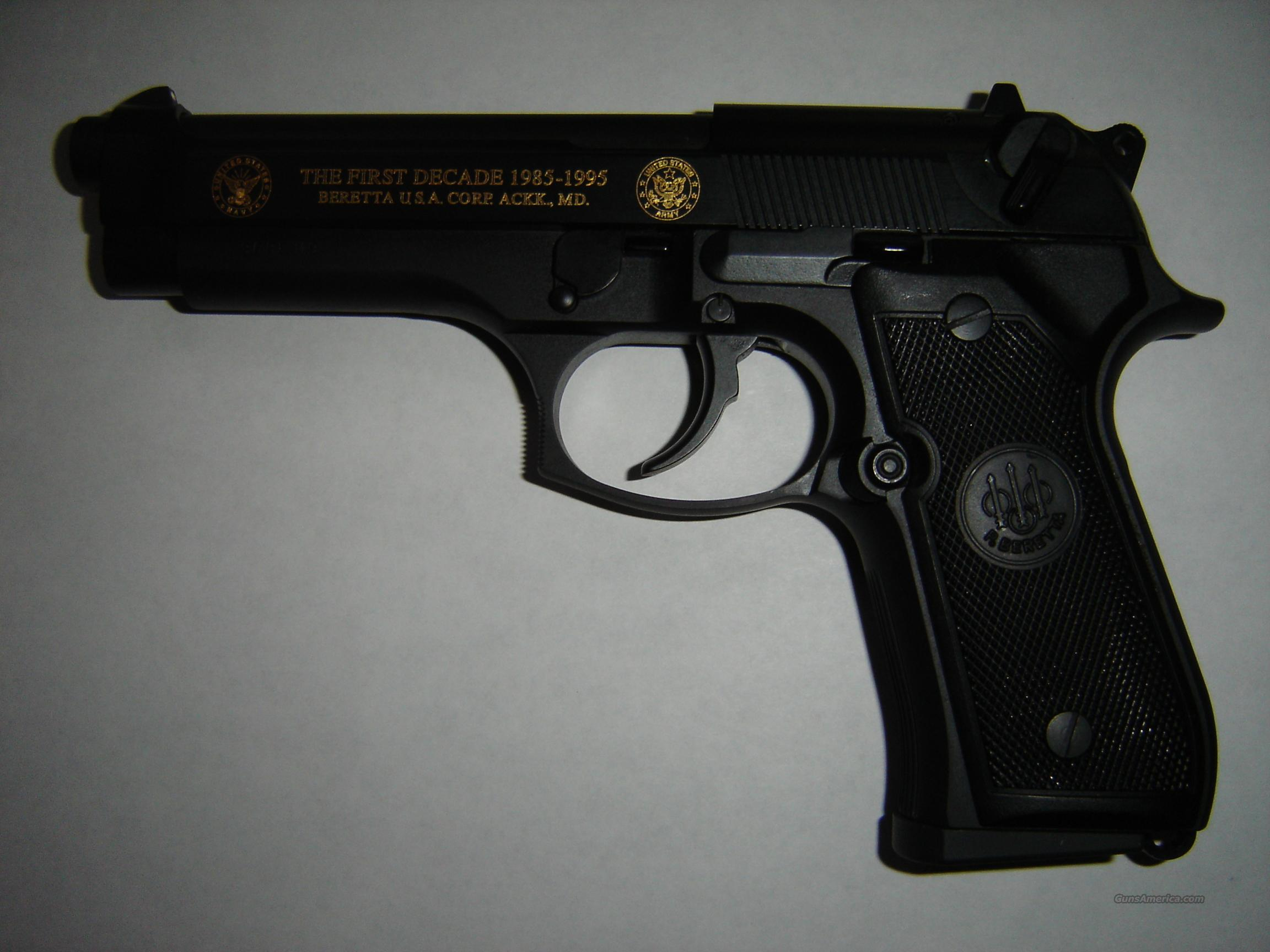 "Beretta limited M9-92FS mm Parabbllum America's Defender ""THE FIRST DECADE 1985-1995"" Beretta USA Corp   Guns > Pistols > Beretta Pistols > Model 92 Series"
