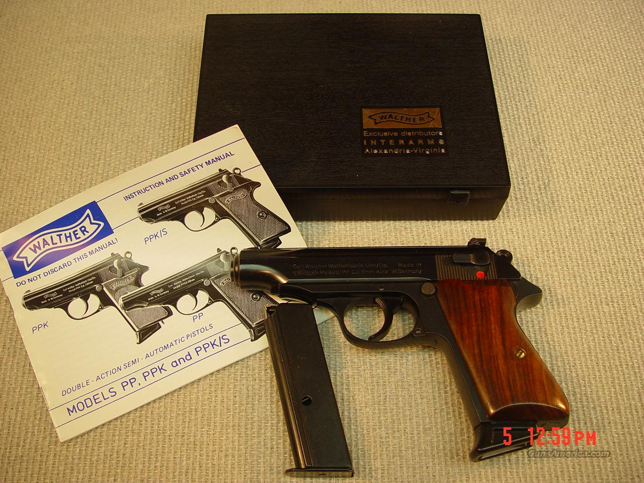 WALTHER PP 9mm GERMAN  Guns > Pistols > Walther Pistols > Post WWII > PP Series