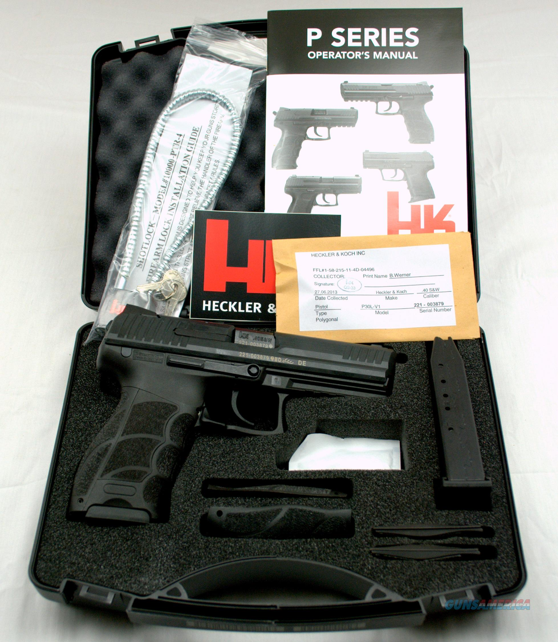 H & K P30L 40 S&W V1 LEM   Guns > Pistols > Heckler & Koch Pistols > Polymer Frame