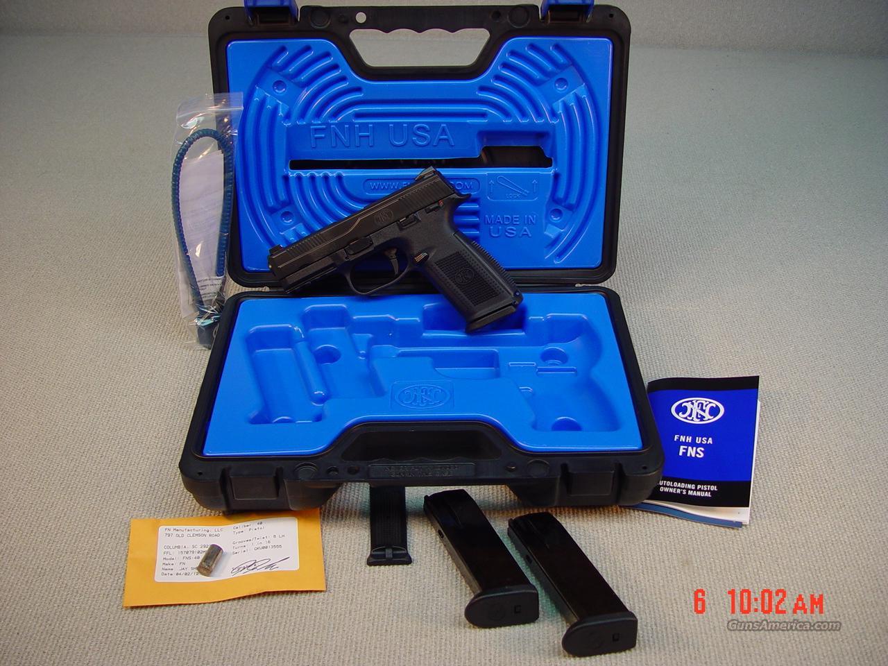 F N FNS 40 MS D 40 S&W   Guns > Pistols > FNH - Fabrique Nationale (FN) Pistols > FNP