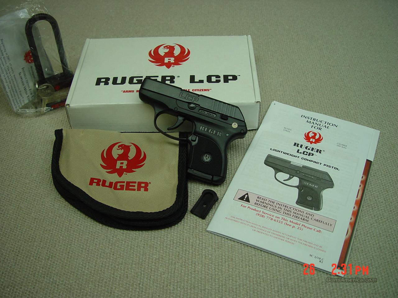 RUGER LCP 380 AUTOMATIC  Guns > Pistols > Ruger Semi-Auto Pistols > LCP