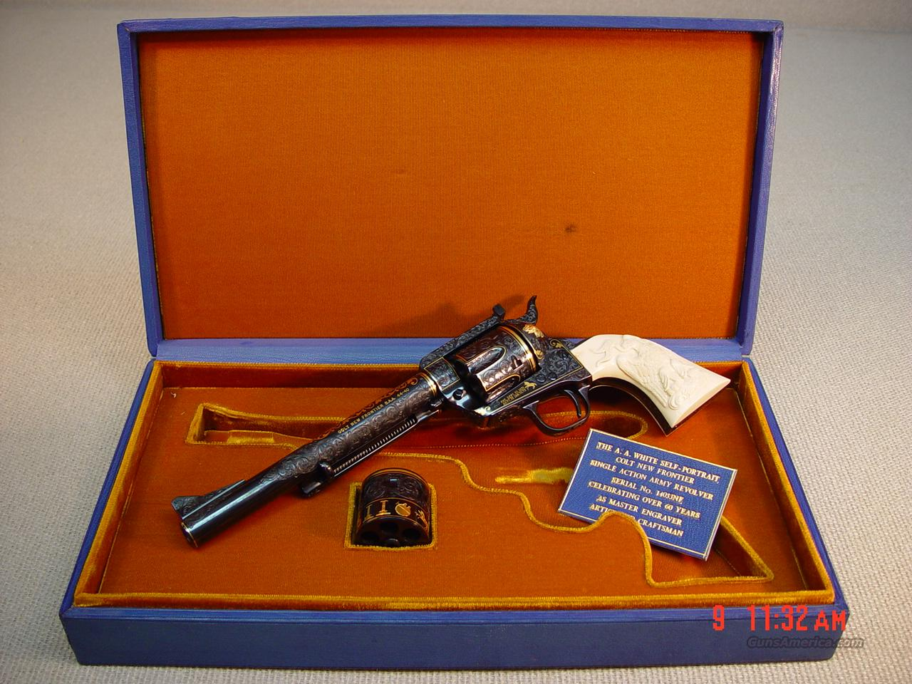 COLT NEW FRONTIER 'ALVIN WHITE SELF PORTRAIT'  Guns > Pistols > Colt Commemorative Pistols