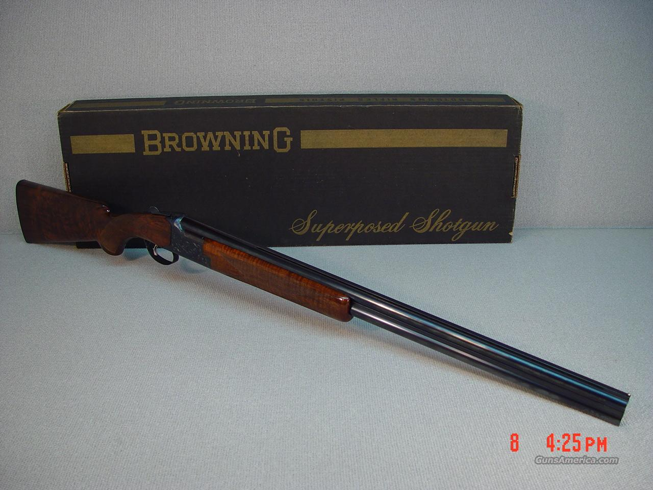 BROWNING B25 LIGHTNING CONTINENTAL GRADE 12GA  Guns > Shotguns > Browning Shotguns > Over Unders > Belgian Manufacture