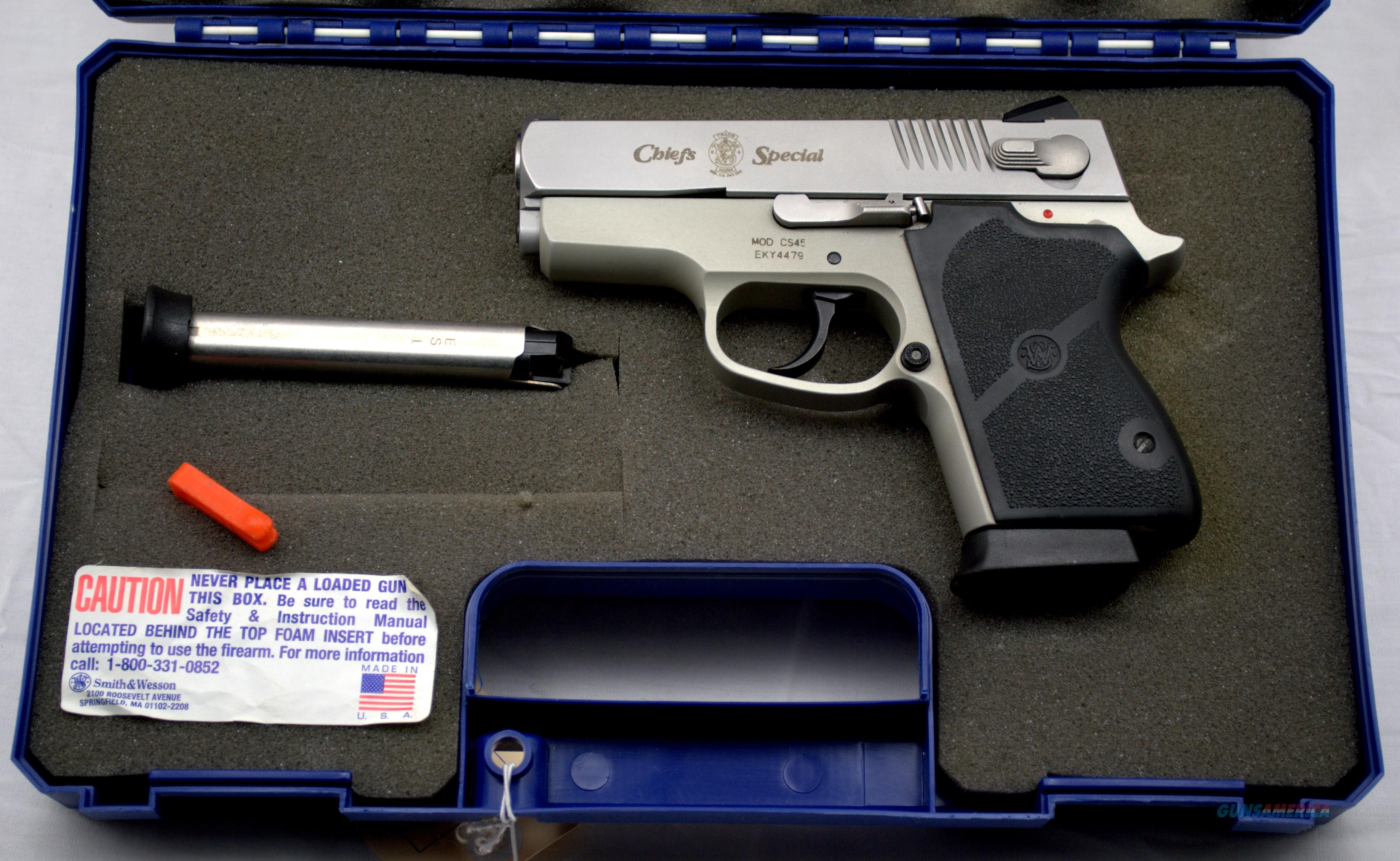 SMITH & WESSON CHIEFS SPECIAL 45 ACP  Guns > Pistols > Smith & Wesson Pistols - Autos > Alloy Frame