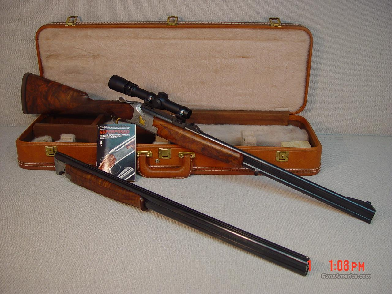 BROWNING BELGIUM DOUBLE RIFLE &O/U SHOTGUN COMBO 20GA/30-06CAL  Guns > Shotguns > Browning Shotguns > Over Unders > Belgian Manufacture