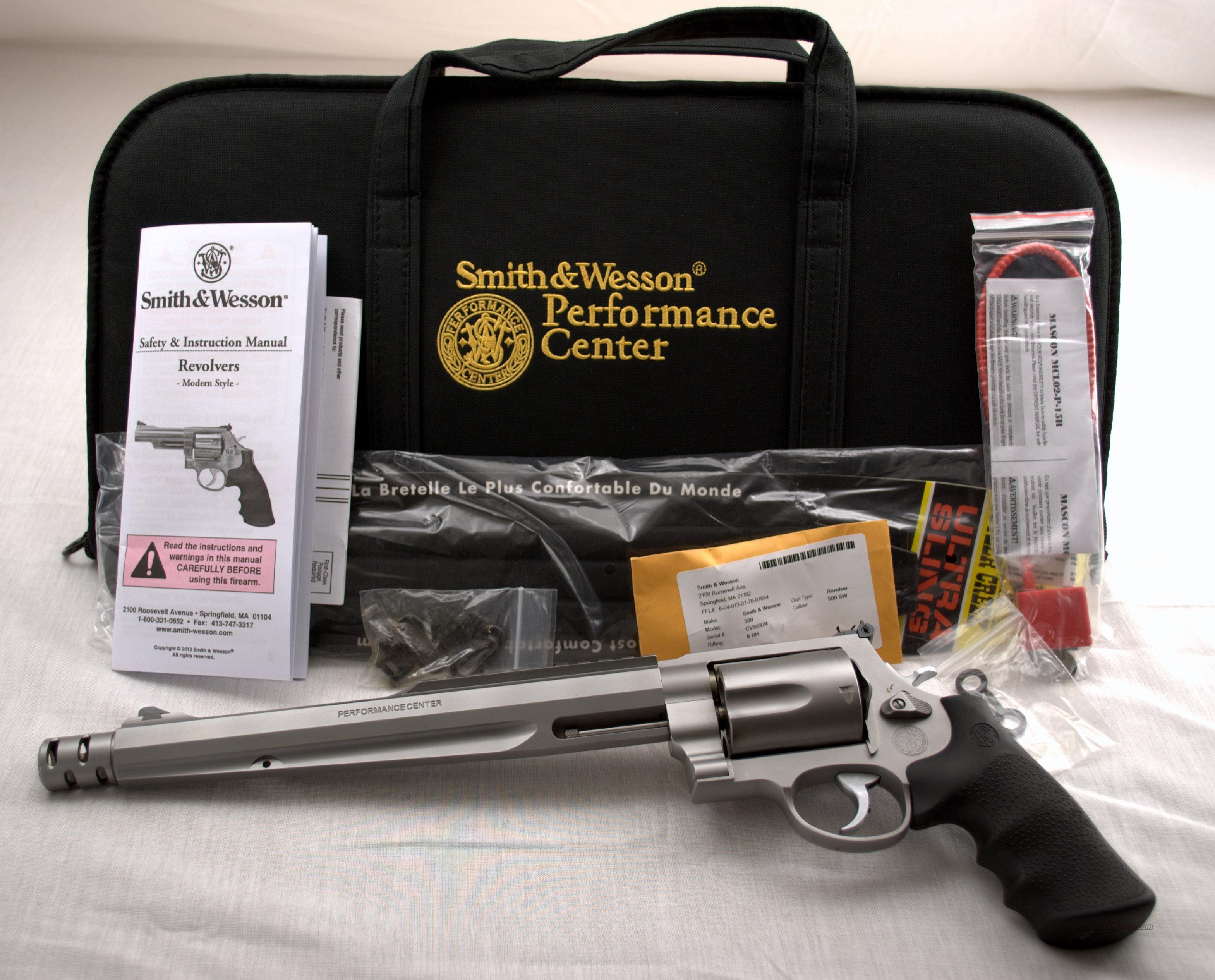 SMITH & WESSON MODEL 500 PERFORMANCE CENTER STAINLESS 500 S&W CALIBER  Guns > Pistols > Smith & Wesson Revolvers > Performance Center