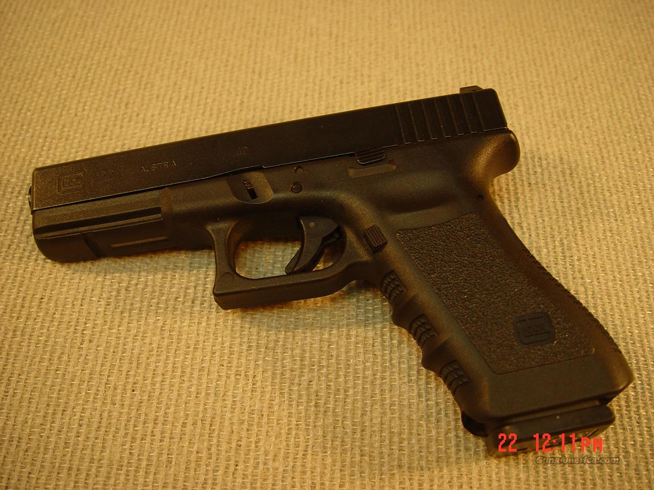 GLOCK 22 THIRD GENERATION 40 S&W (Like New)  Guns > Pistols > Glock Pistols > 22