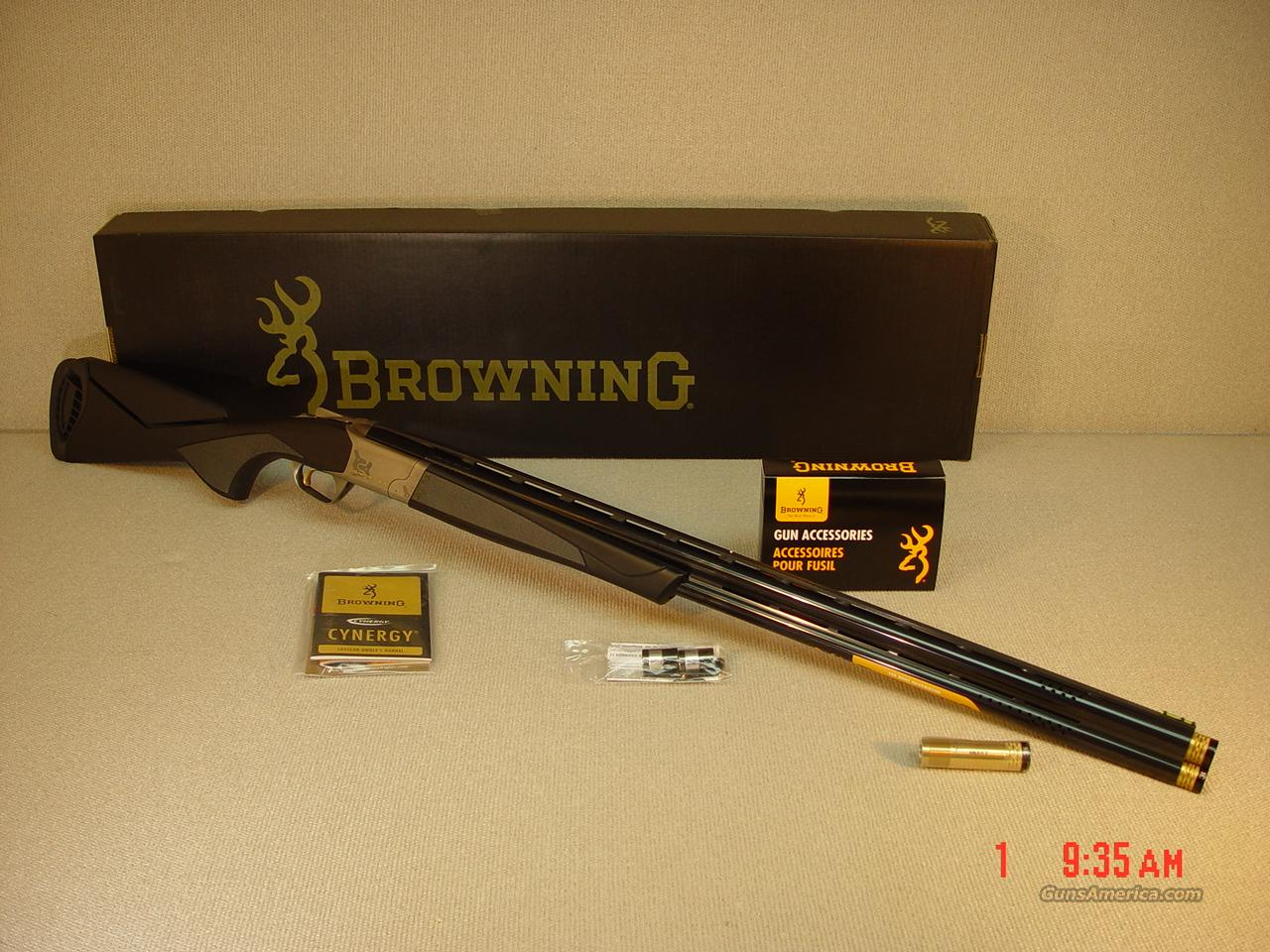"BROWNING CYNERGY SPORTING ADJUSTABLE COMB-SYNTHETIC 30""  Guns > Shotguns > Browning Shotguns > Over Unders > Cynergy > Hunting"