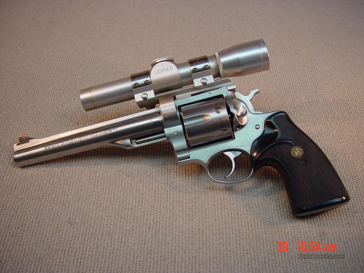 "RUGER REDHAWK with SCOPE 7 1/2"" 44MAG  Guns > Pistols > Ruger Double Action Revolver > Redhawk Type"