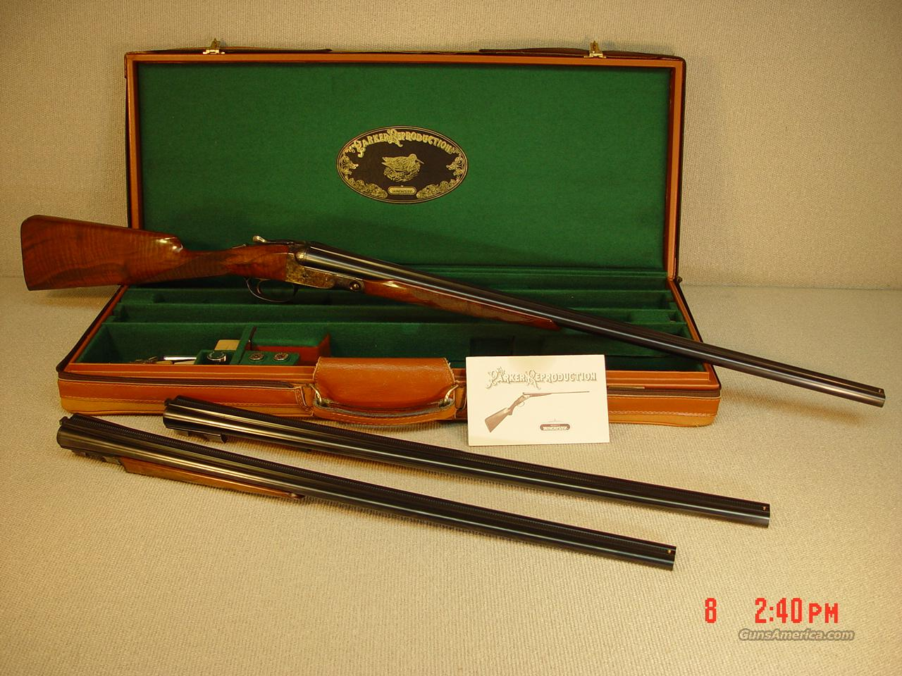 PARKER REPRODUCTION RARE DHE 3 BARREL SET  Guns > Shotguns > Parker Reproductions Shotguns