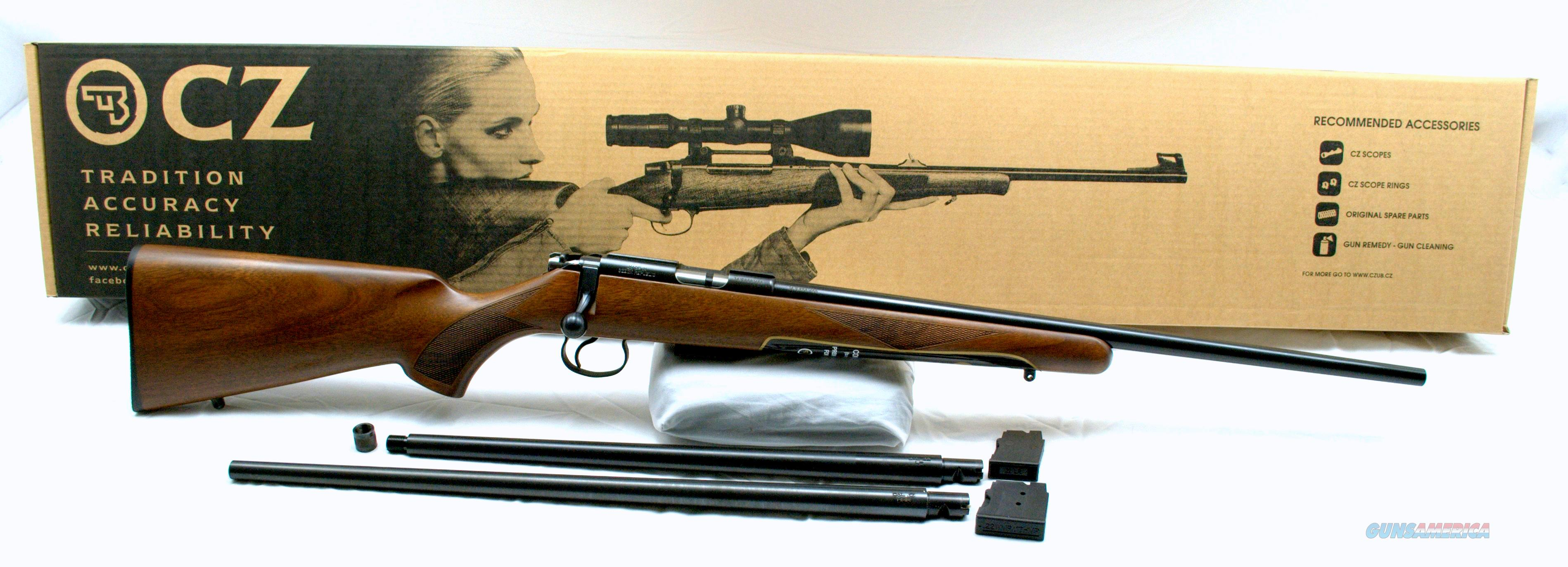 CZ-USA 455 3 BARREL COMBO 17 HMR 22 WMR 22 LR  Guns > Rifles > CZ Rifles