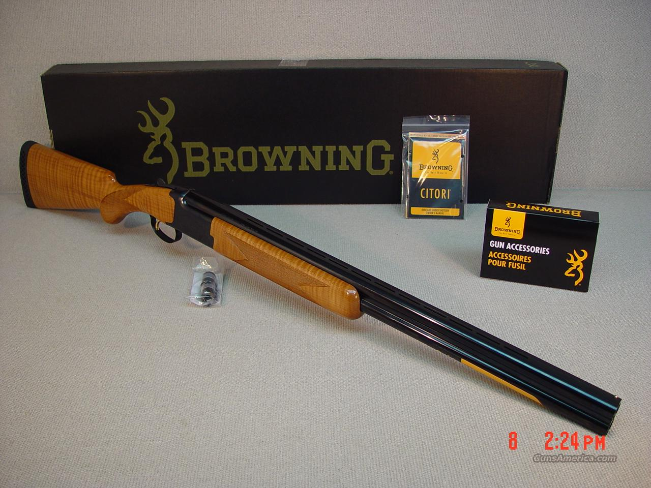 "BROWNING CITORI MAPLE 12GA 26""  Guns > Shotguns > Browning Shotguns > Over Unders > Citori > Hunting"
