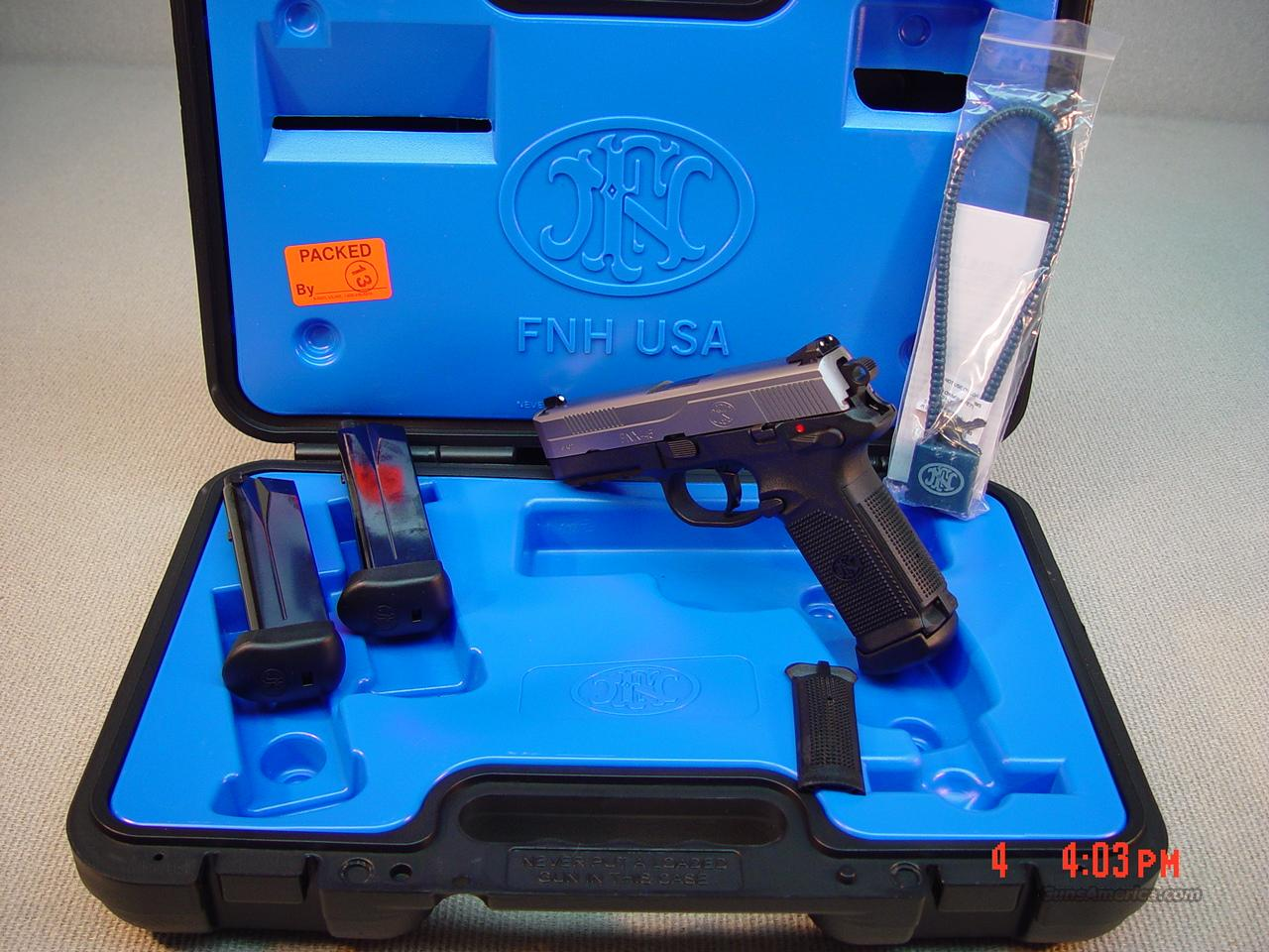 FN HERSTAL FNX-45 TWO TONE with 3 MAGS 45ACP (NIB)  Guns > Pistols > FNH - Fabrique Nationale (FN) Pistols > FNP