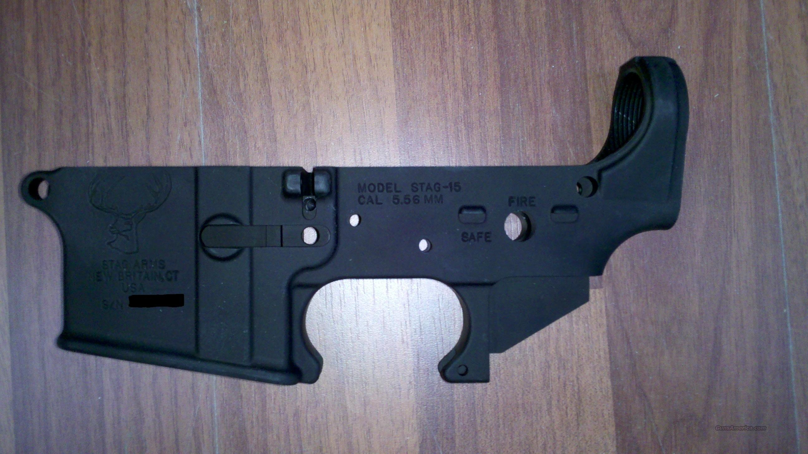 Stag-15 Lower Receiver - Stripped Lower  Guns > Rifles > Stag Arms > Lower Only