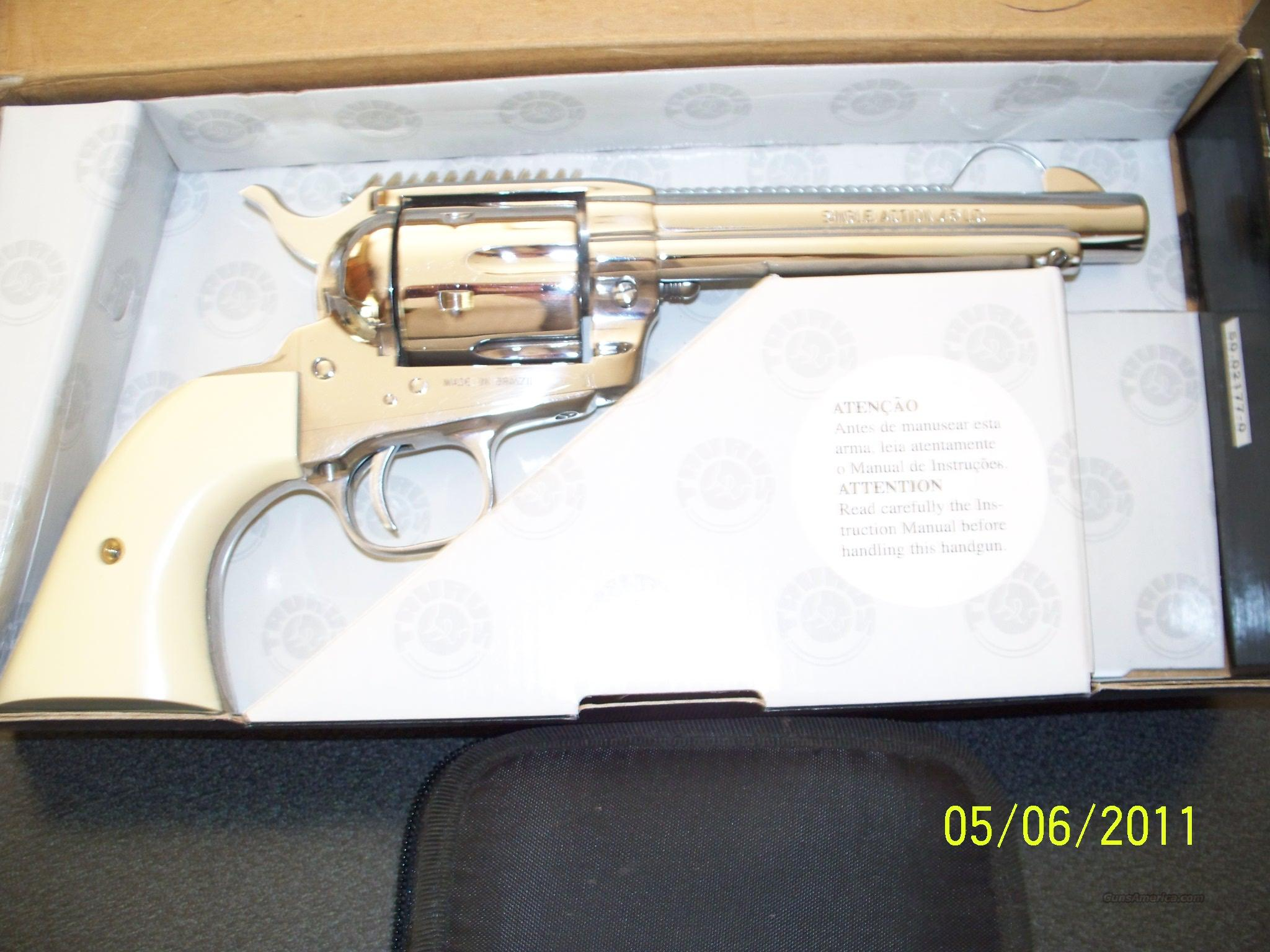 Taurus M45SA Stainless Revolver (never fired)  Guns > Pistols > Taurus Pistols/Revolvers > Revolvers