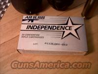 Independence AR 5.56 20 centerfire rifle cartridges 55 grain FMJ 5.56X45  Non-Guns > Ammunition