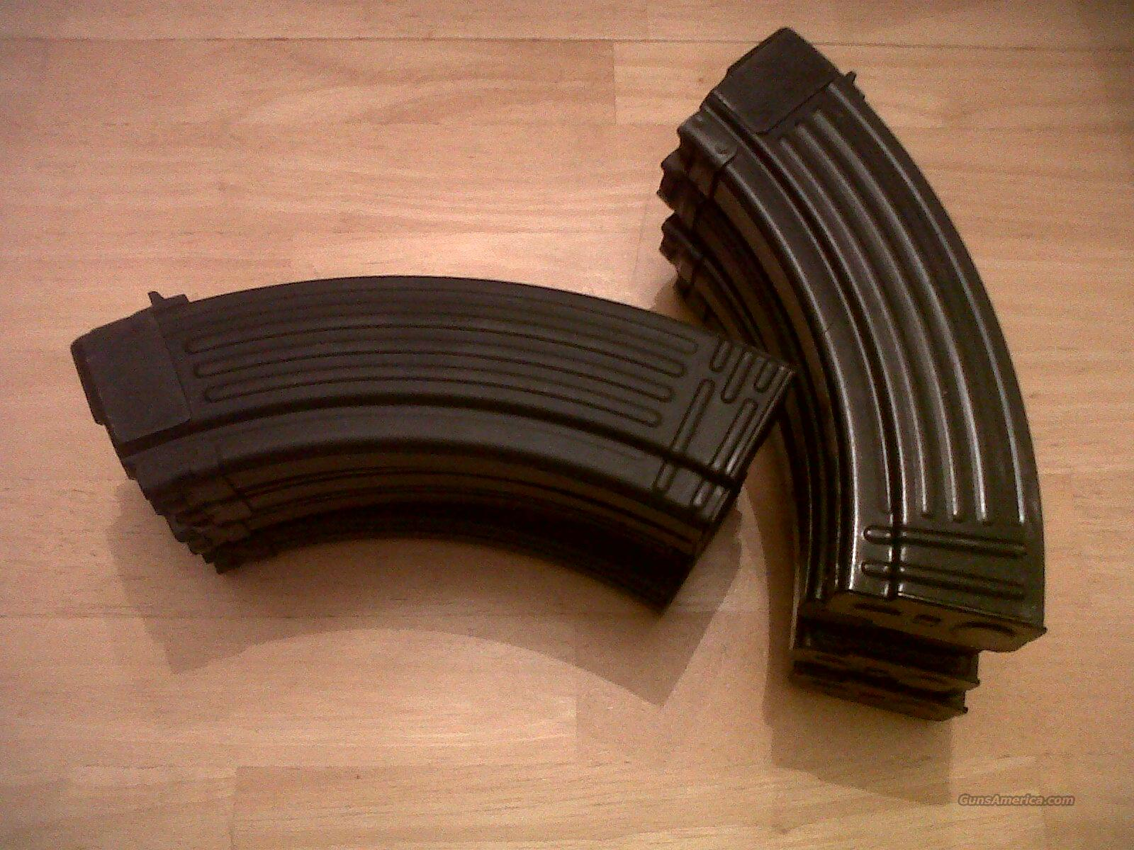 Ak47, 30 round magazine/clips all steel AK 30 round MAGSsome new and some used these are the mags that come with century arm AK's  Non-Guns > Magazines & Clips > Rifle Magazines > AK Family
