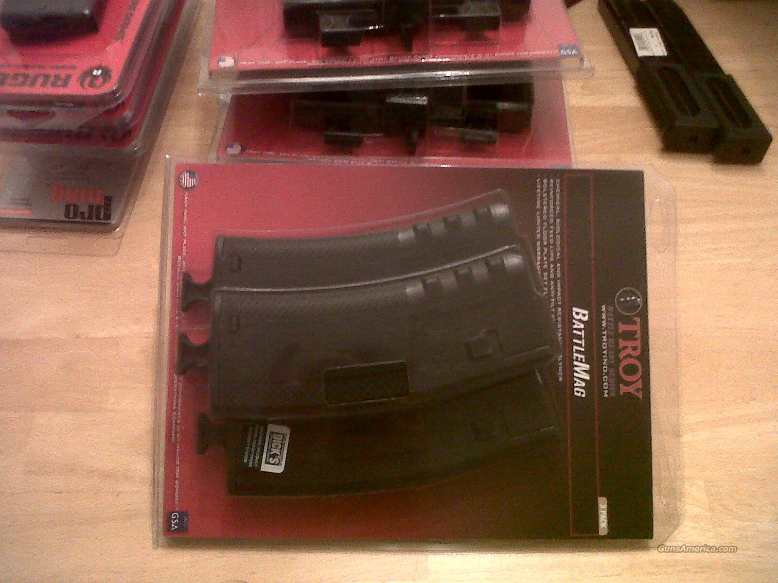 3pack AR 15 30 round magazines 3 pack TROY BATTLEMAGS   Non-Guns > Magazines & Clips > Rifle Magazines > AR-15 Type