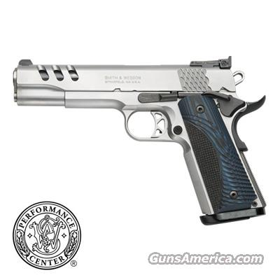 "Smith & Wesson *new*SKU:170343, 1911, 45, 5"" barrel, stainless ported blue grips AWESOME  Guns > Pistols > Smith & Wesson Pistols - Autos > Steel Frame"
