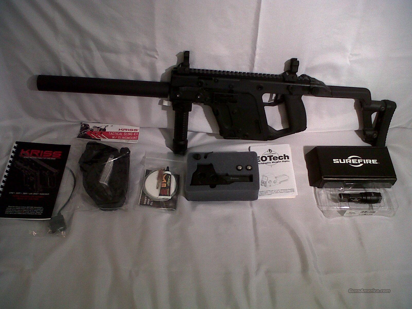 "Kriss Vector Kriss USA VECTOR CRB/SO SUPER-V 45acp 16"" 13 shot Black w/TACPAC  Tactical System 46-state fold NEW in stock  Guns > Rifles > Kriss Tactical Rifles"