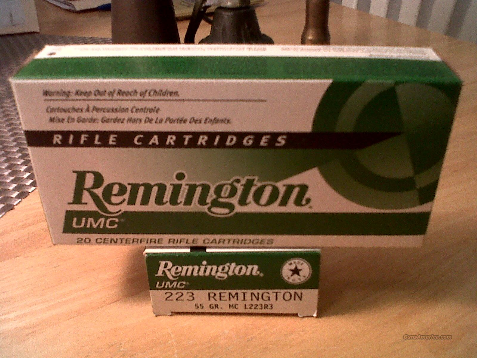 223 Ammunition REMINGTON UMC 223 Remington 55 grain (1) Box of 20  Non-Guns > Ammunition