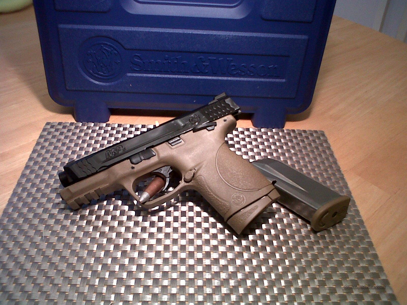 "Smith & Wesson M&P45C SKU 109158 Dark Earth Brown frame Smith & Wesson M&P45c - Compact Size, Manual Thumb Safety 4"" barrel  Guns > Pistols > Smith & Wesson Pistols - Autos > Polymer Frame"