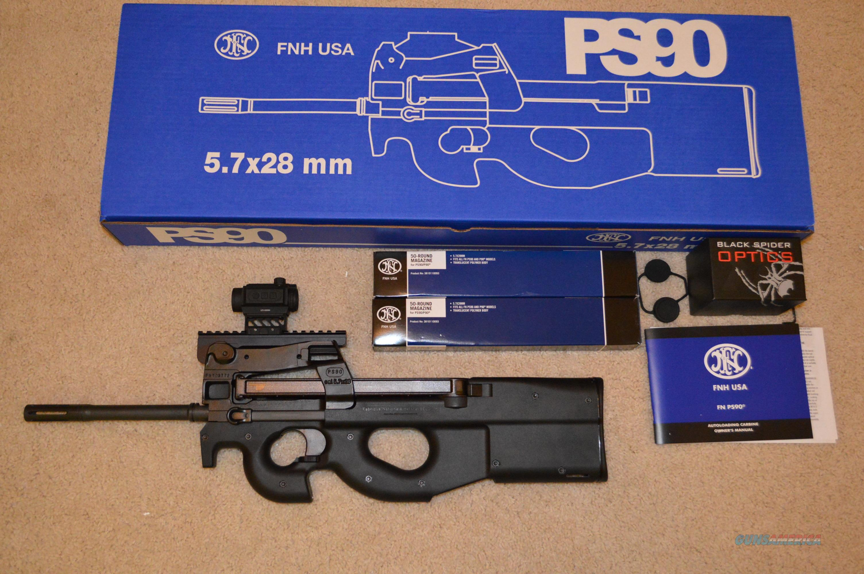 FN PS90 + Sight & Mags  Guns > Rifles > FNH - Fabrique Nationale (FN) Rifles > Semi-auto > PS90