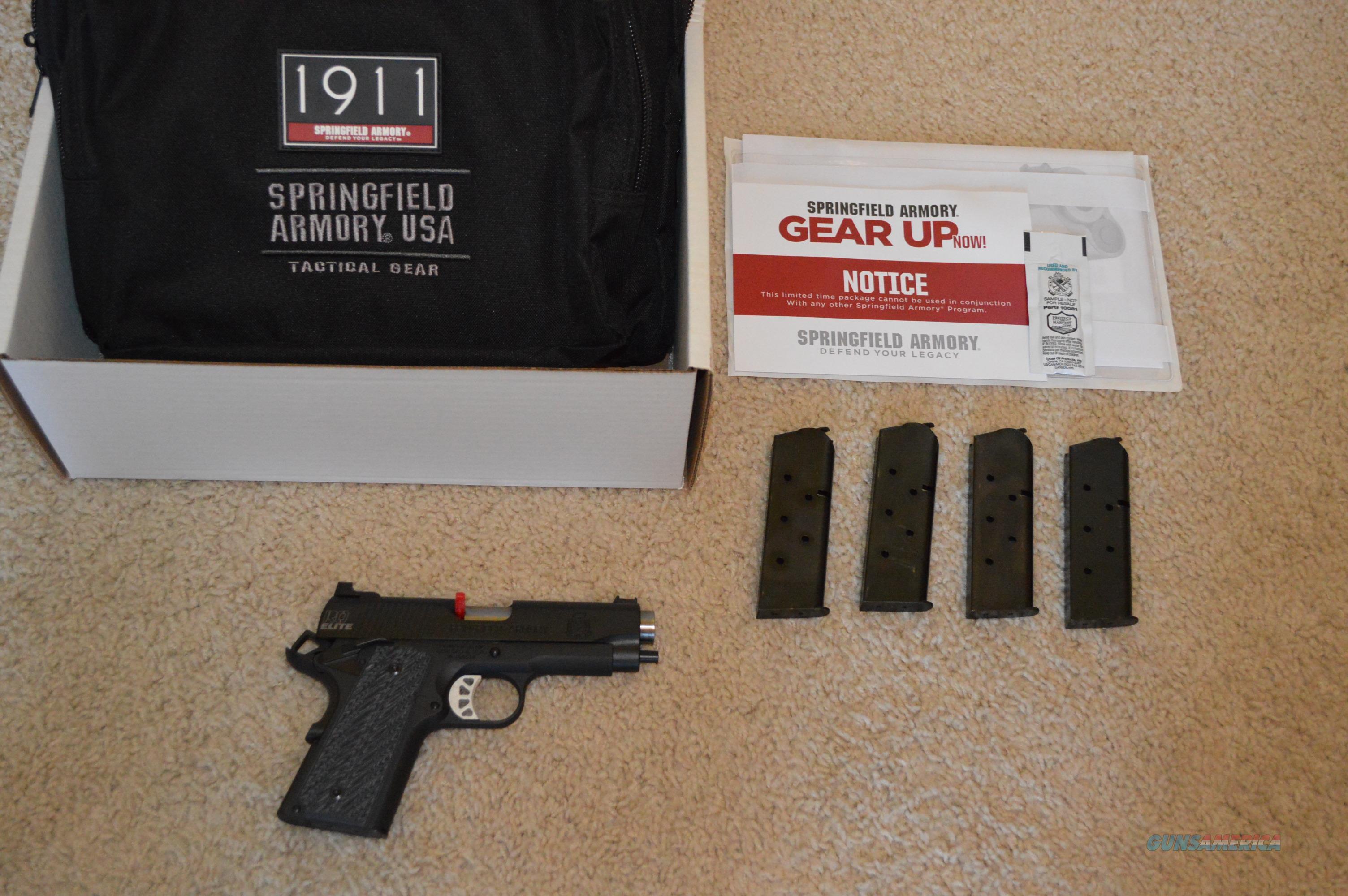 ON SALE! Springfield Range Officer Elite Compact Gear Up  Guns > Pistols > Springfield Armory Pistols > 1911 Type