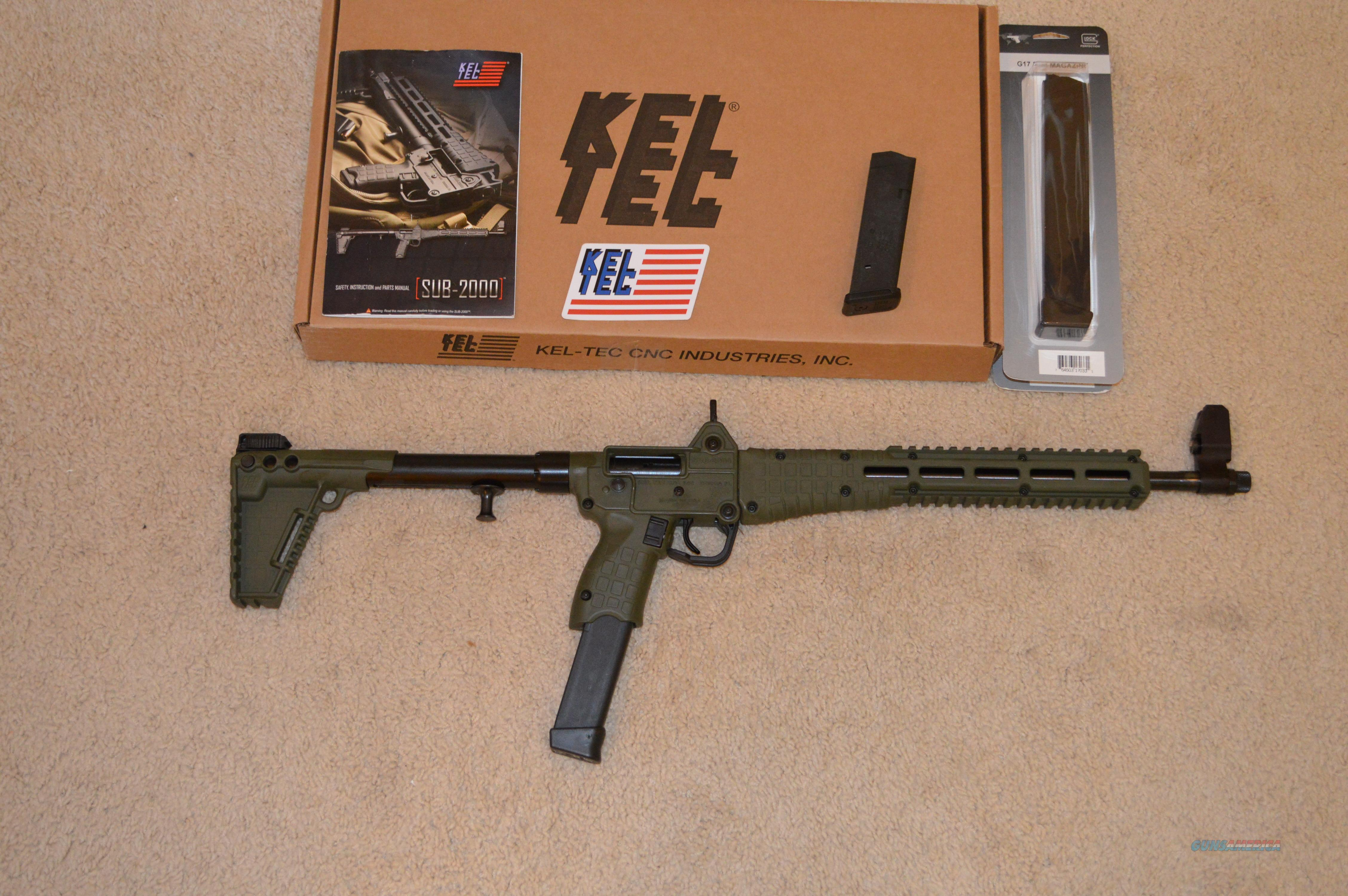 KelTec Sub 2K Green 9mm Glock Mags  Guns > Rifles > Kel-Tec Rifles