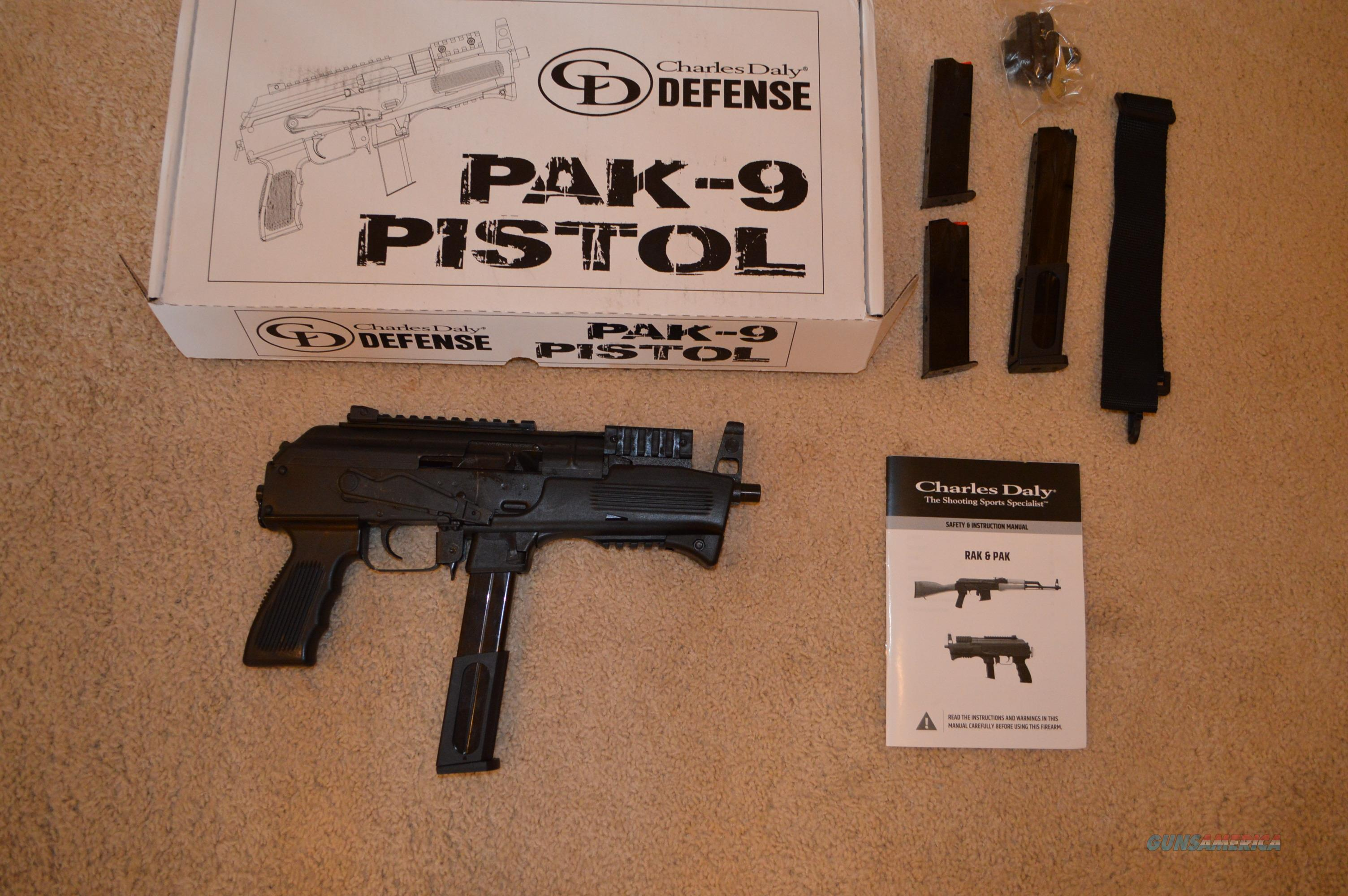On Sale! Chiappa Charles Daly PAK-9 AK-9 + Extras  Guns > Pistols > Charles Daly Pistols > Auto