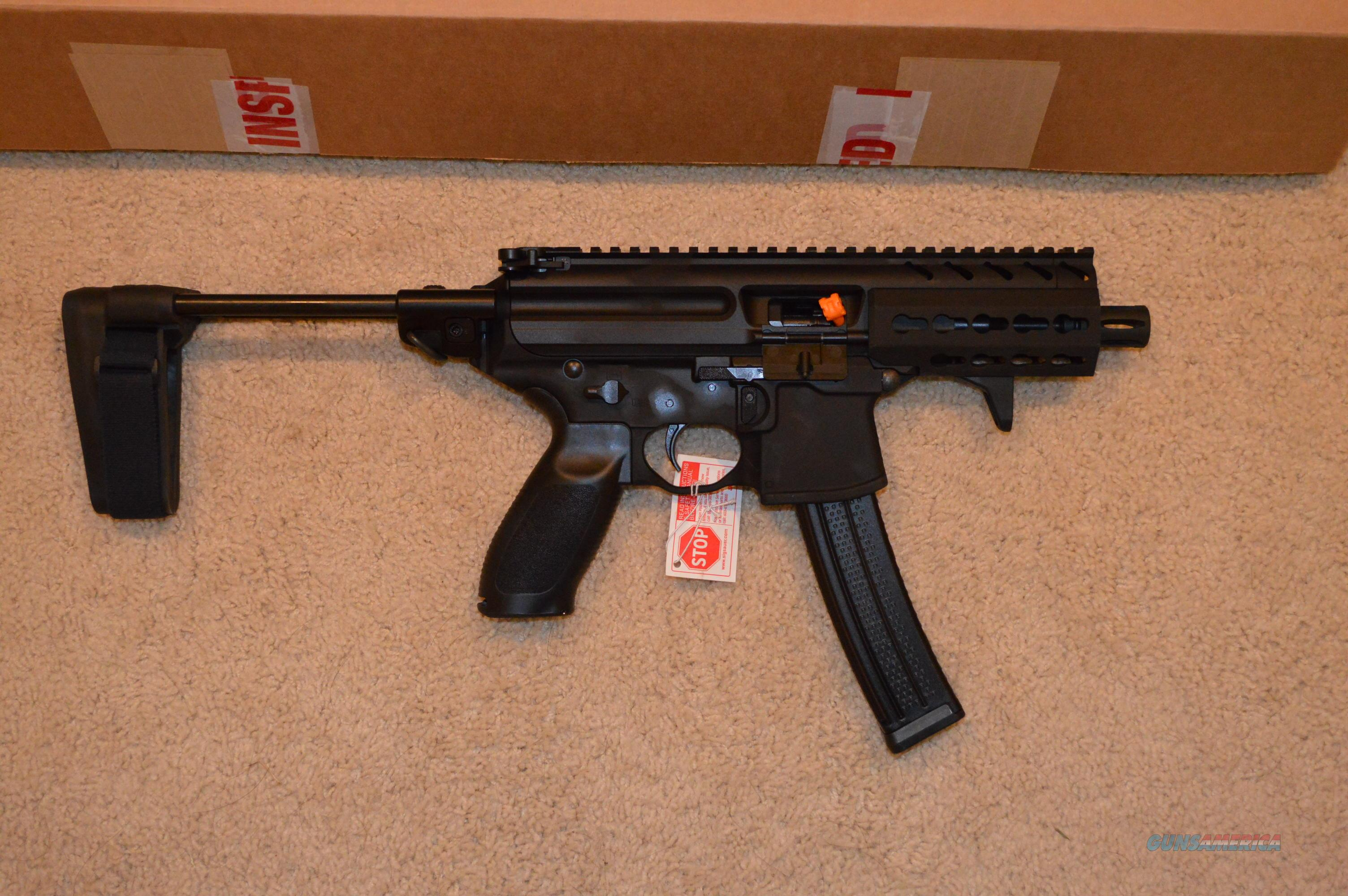 """Sig MPX 9mm 4.5"""" + SB Tactcal PSB + Case  Guns > Pistols > Sig - Sauer/Sigarms Pistols > Other"""