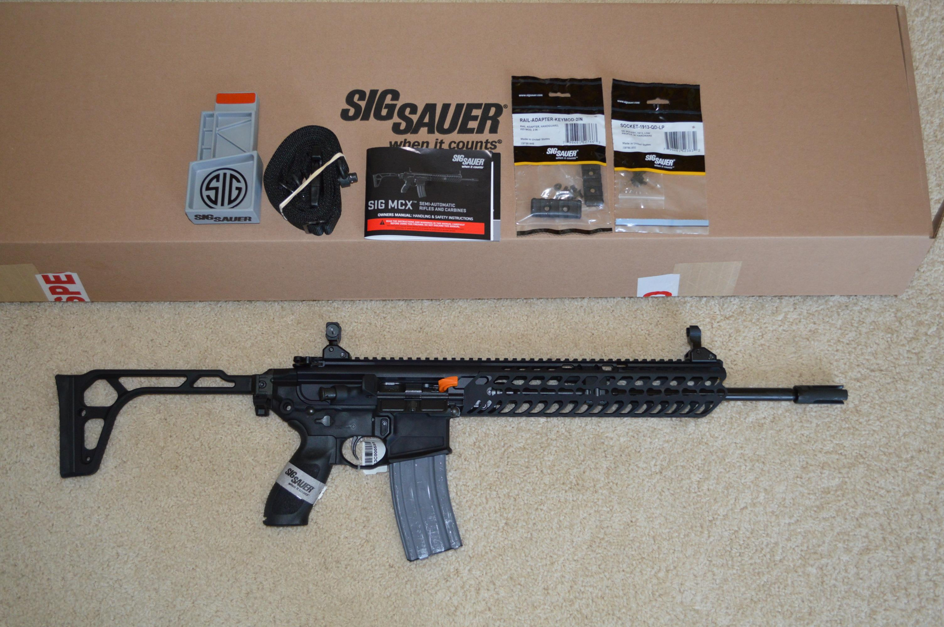 Sig MCX Patrol 5.56 + Sight! Free Ship NO CC Fee  Guns > Rifles > Sig - Sauer/Sigarms Rifles