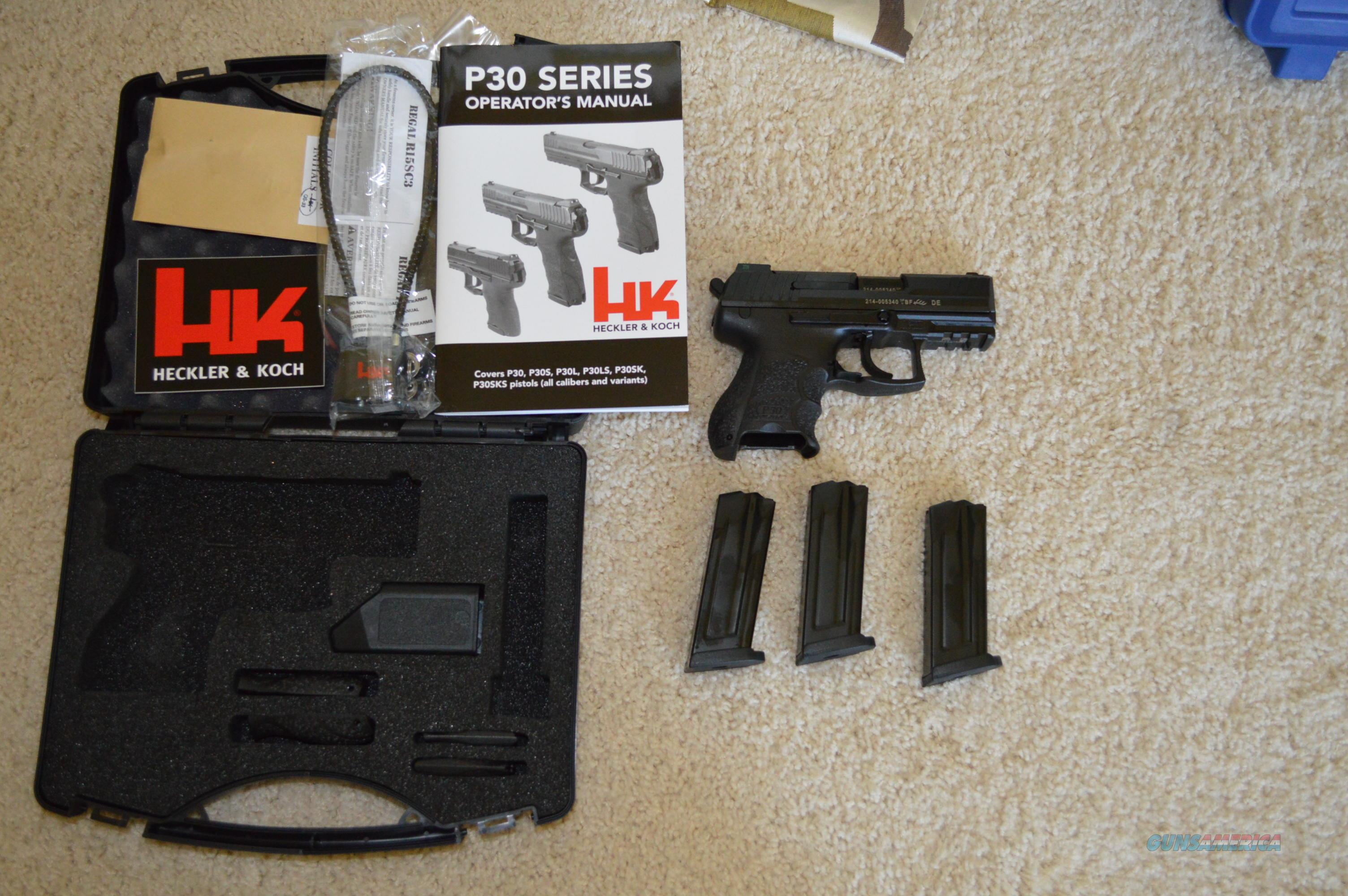 On Sale! HK P30SK LE Night Sights 3 Mags NO CC FEE!  Guns > Pistols > Heckler & Koch Pistols > Polymer Frame