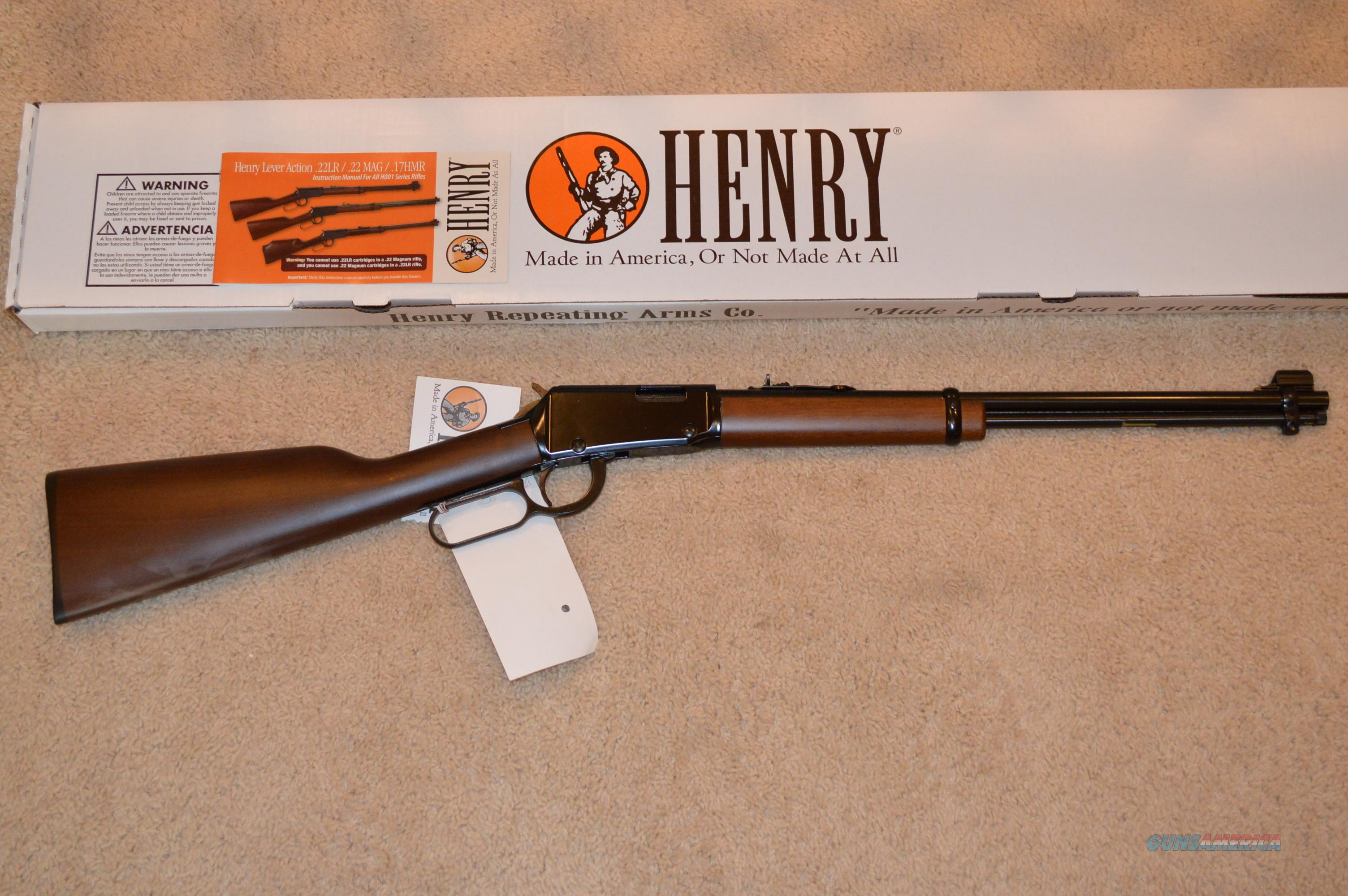 Henry H001 Lever Action 22LR  Guns > Rifles > Henry Rifle Company