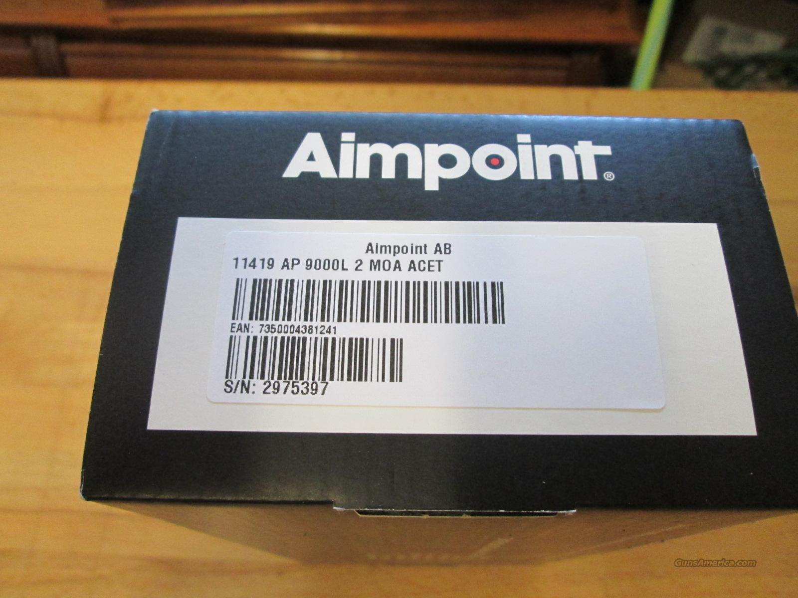 Aimpoint 9000L Free Ship! No CC Fee!  Non-Guns > Scopes/Mounts/Rings & Optics > Tactical Scopes > Red Dot